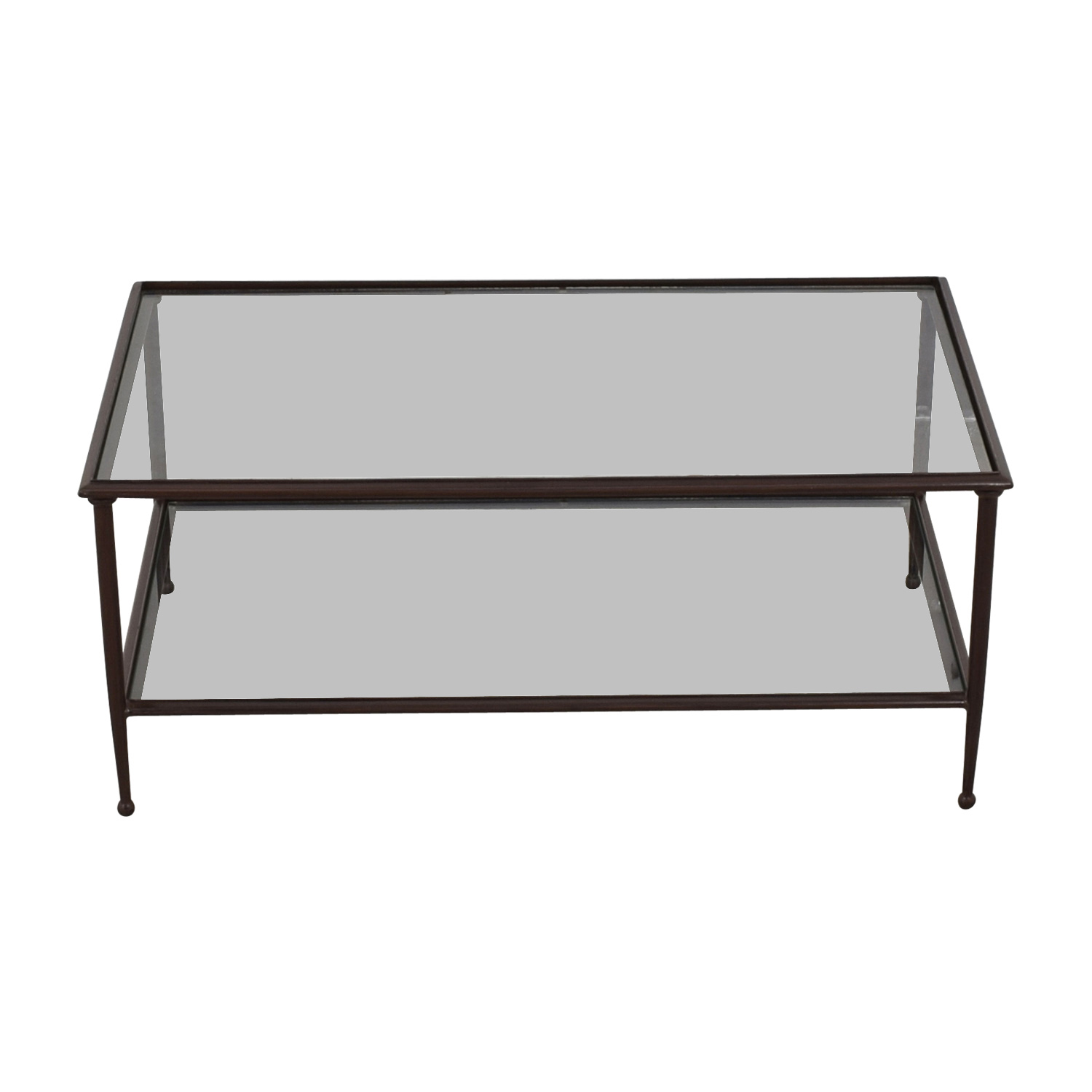 Crate & Barrel Crate & Barrel Glass Coffee Table for sale