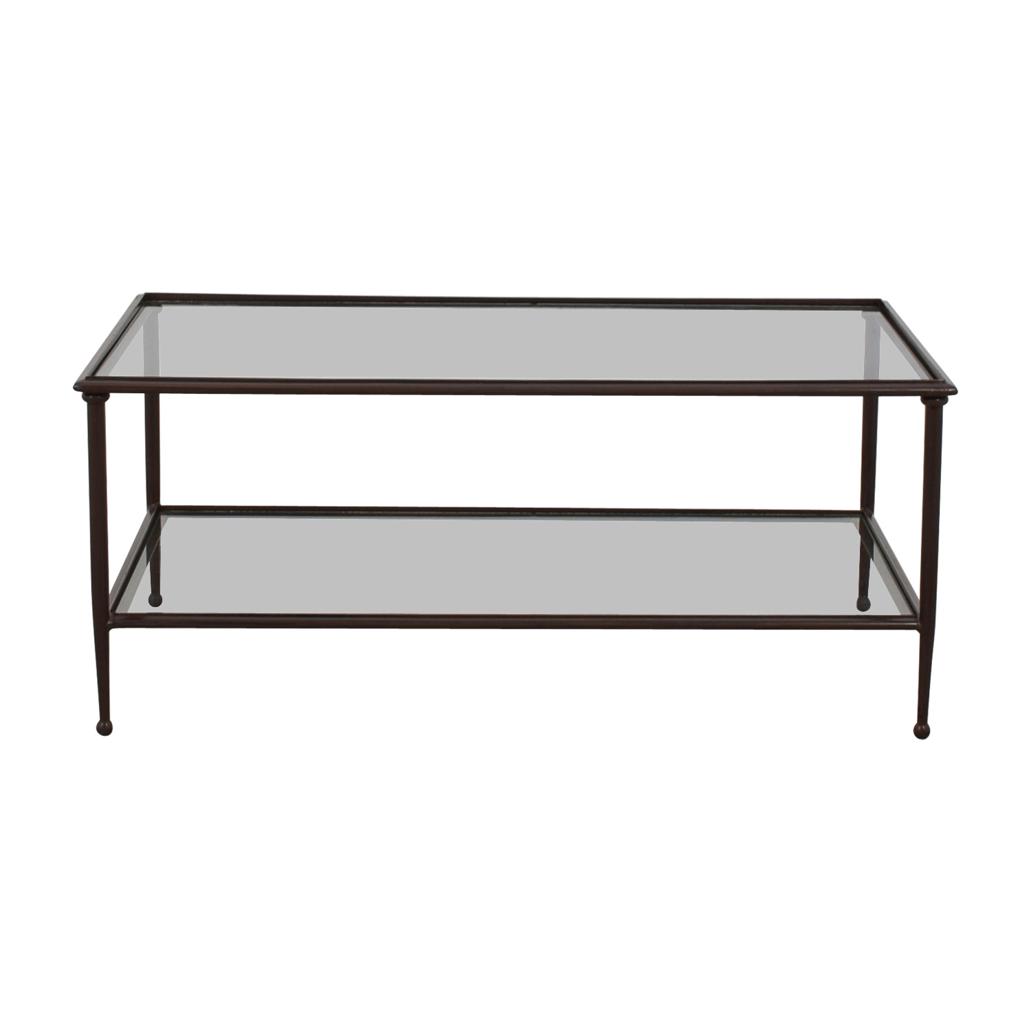 Crate U0026 Barrel Glass Coffee Table Sale