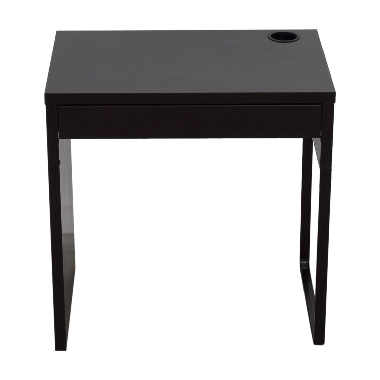 IKEA IKEA Micke Black Single Drawer Desk dimensions