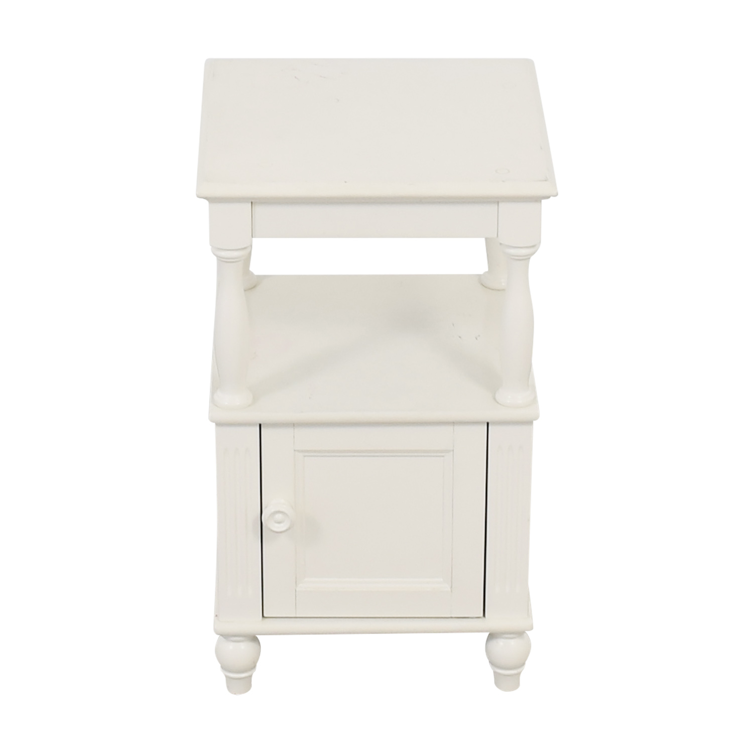 90 Off Custom Made Glass Top Wooden Nightstand Tables