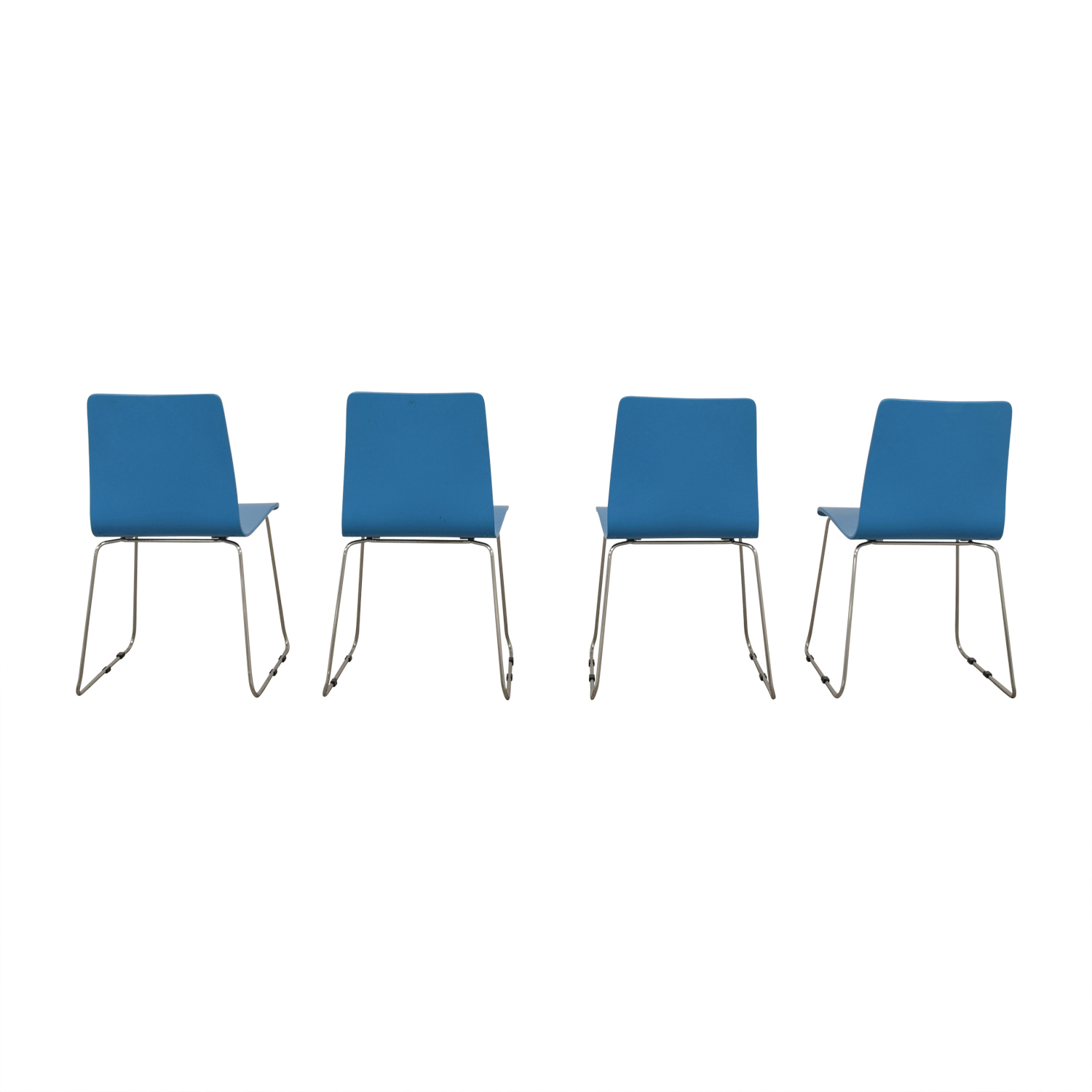 CB2 Turquoise Dining Chairs sale
