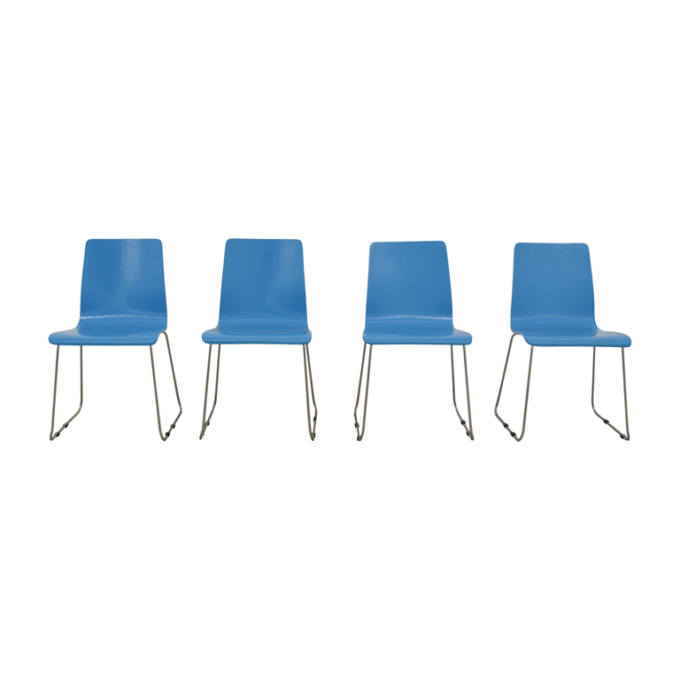 buy CB2 Turquoise Dining Chairs CB2