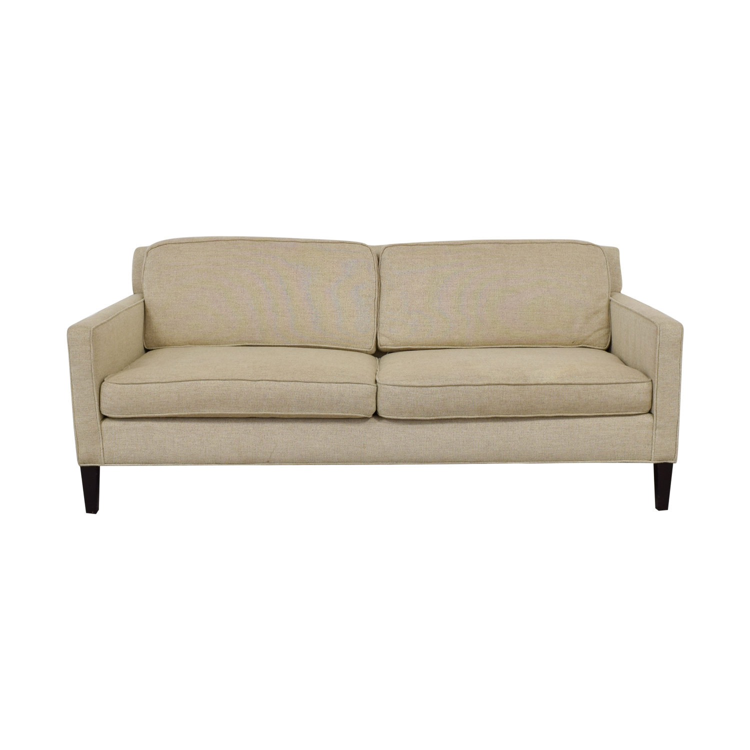 Crate & Barrel Rochelle Beige Two-Cushion Sofa Crate & Barrel