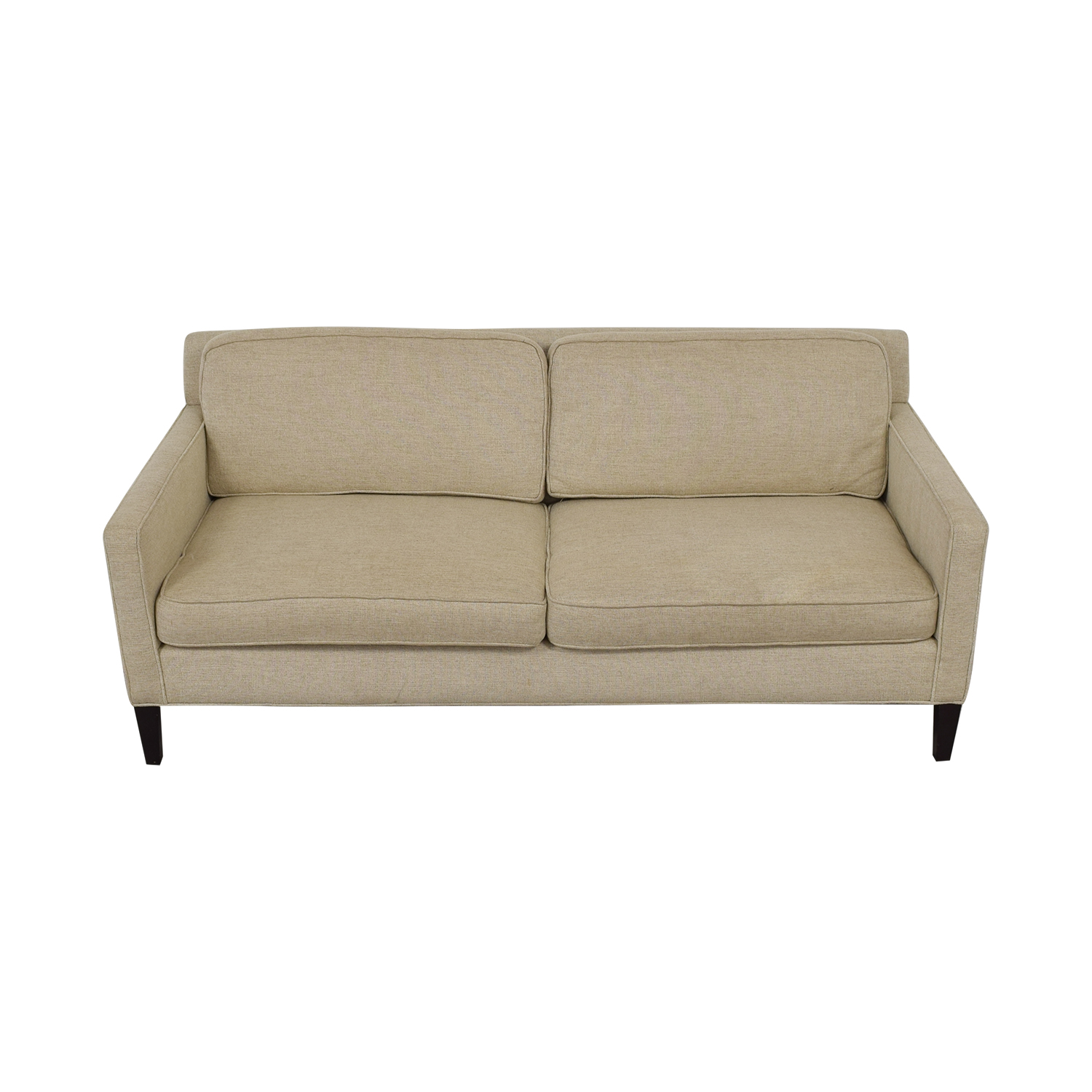 buy Crate & Barrel Rochelle Beige Two-Cushion Sofa Crate & Barrel Classic Sofas