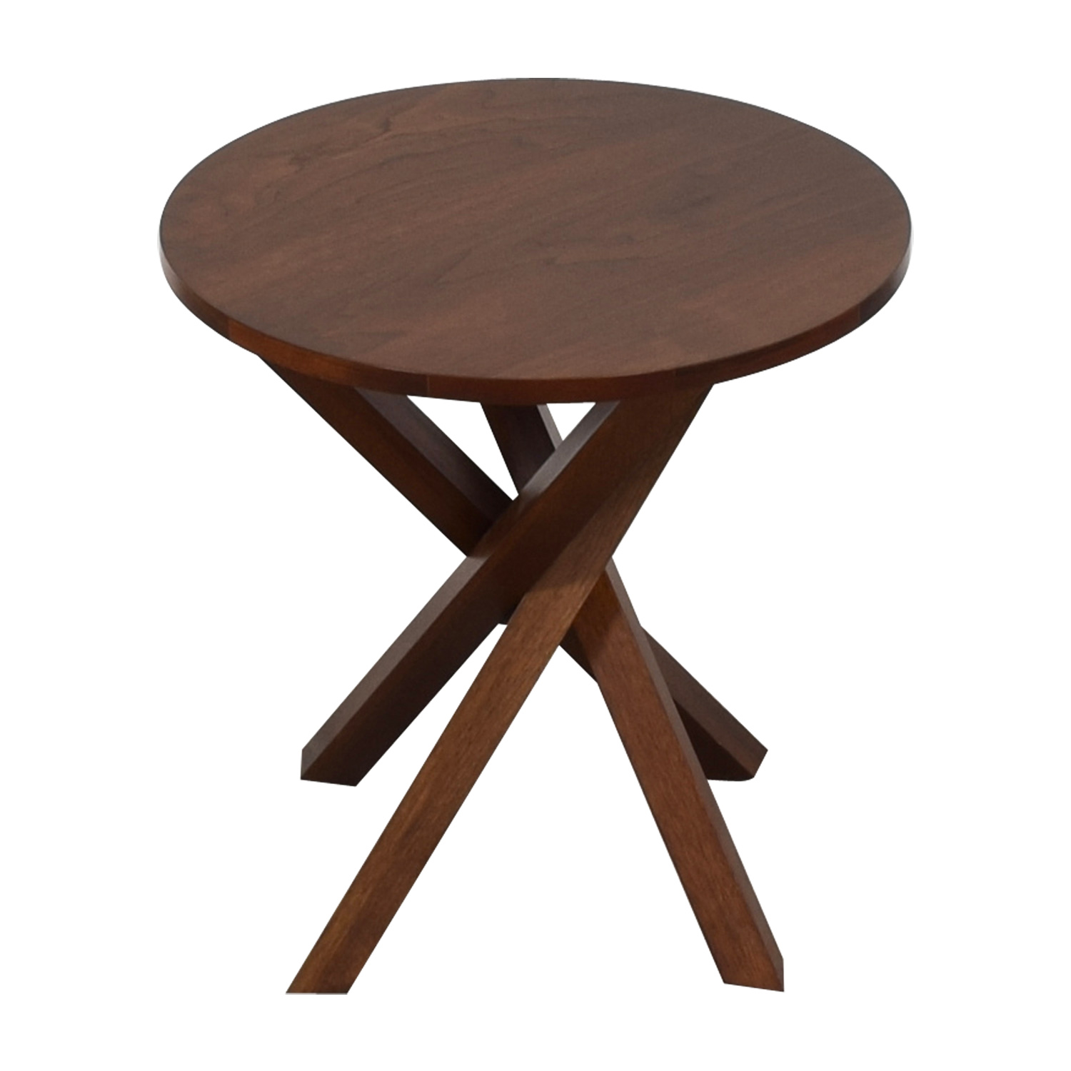 buy Crate & Barrel Round Wood End Table Crate & Barrel