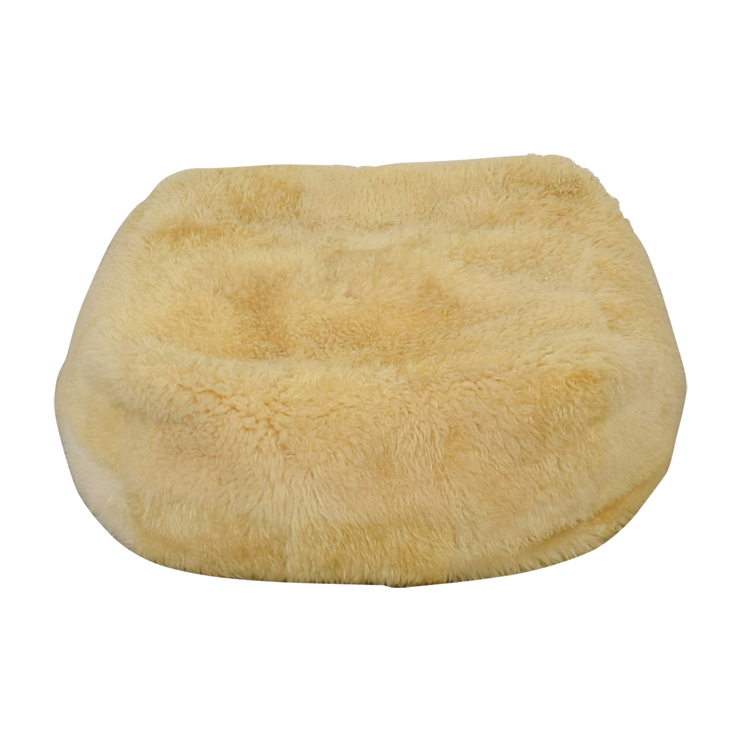 West Elm West Elm White Faux Fur Pouf coupon
