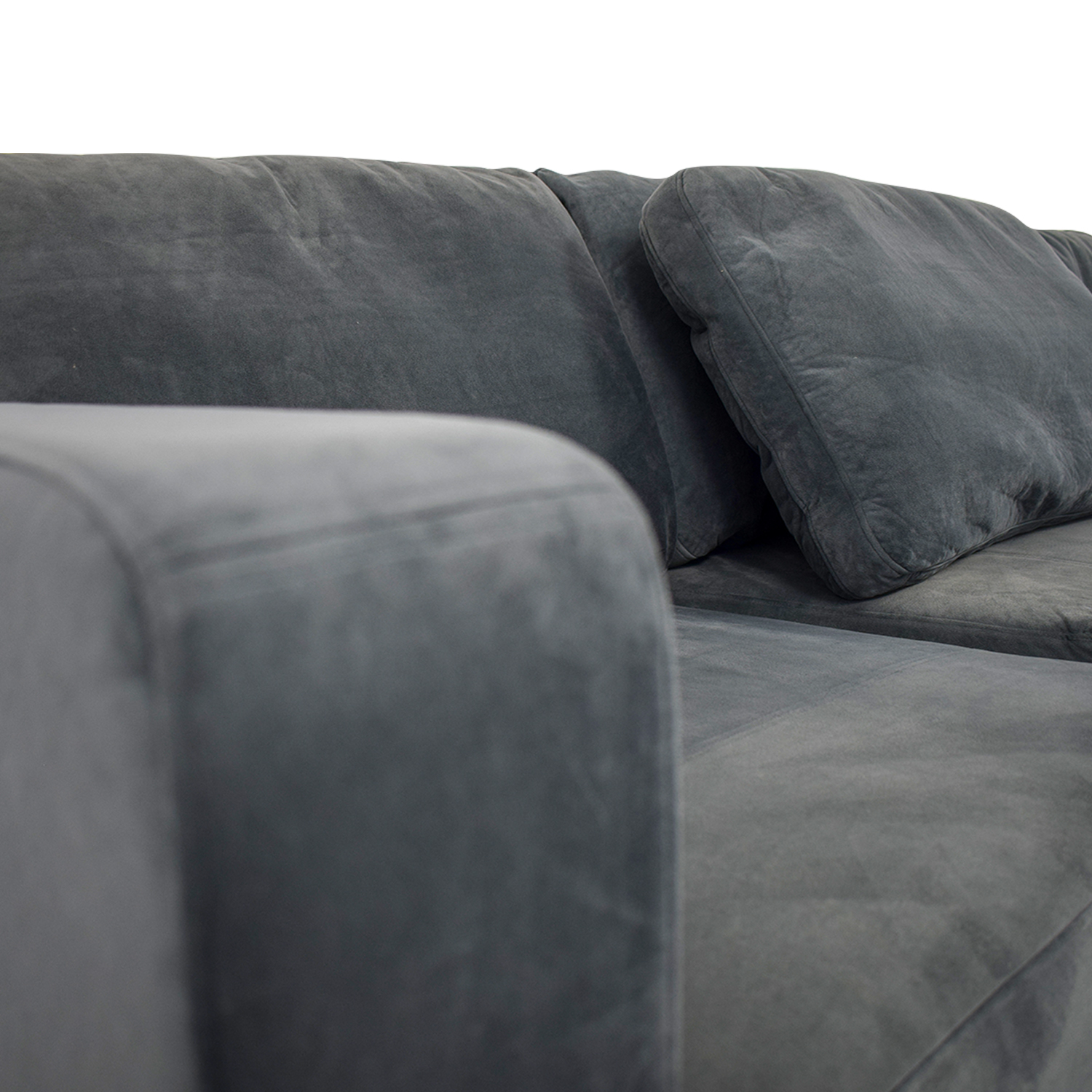 77% OFF - Lovesac Lovesac Grey Center Chaise Sectional / Sofas