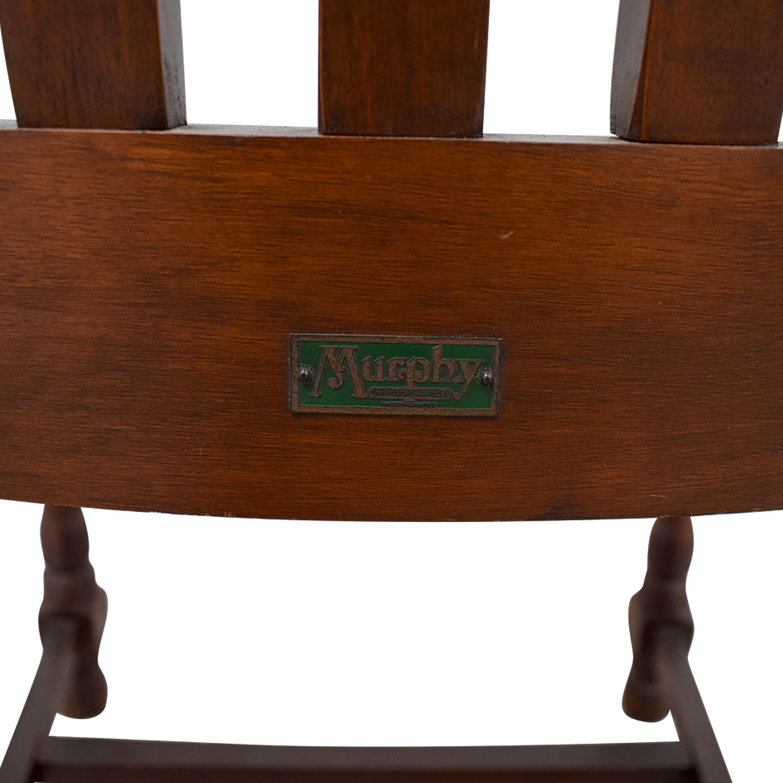 Miraculous 86 Off Murphy Chair Company Murphy Chair Company Brown Wooden Captain Chair Chairs Spiritservingveterans Wood Chair Design Ideas Spiritservingveteransorg