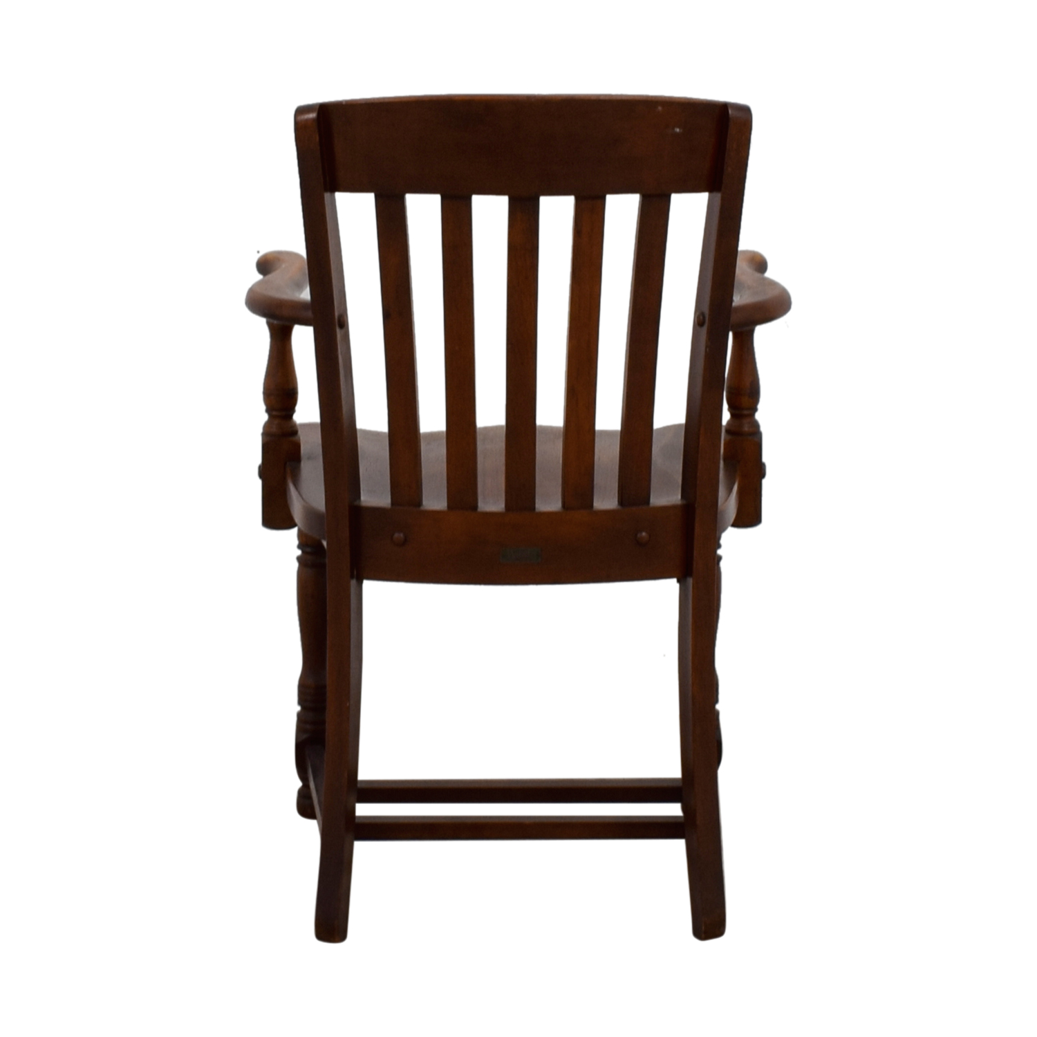Murphy Chair Company Murphy Chair Company Brown Wooden Captain Chair used