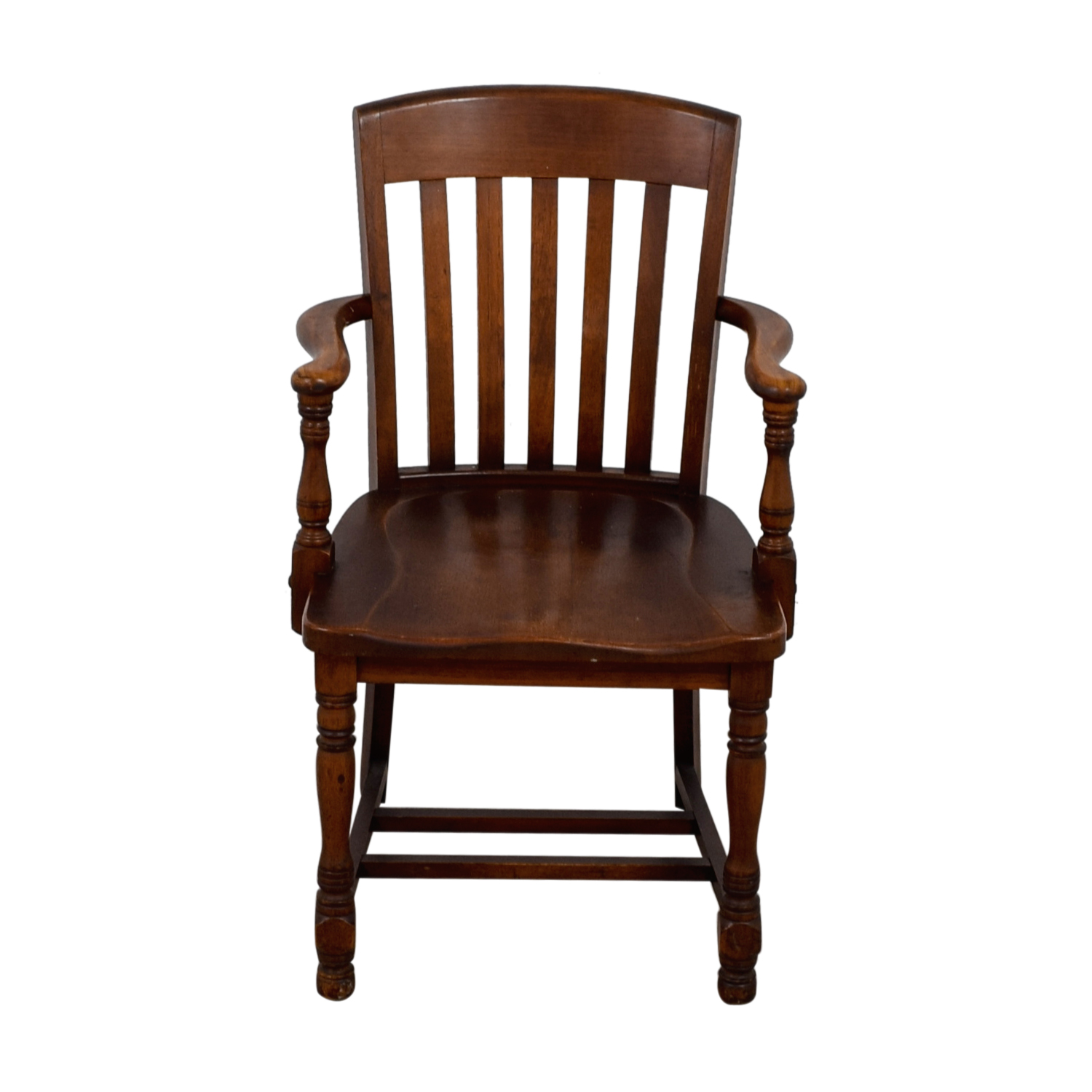 Murphy Chair Company Brown Wooden Captain Chair Murphy Chair Company