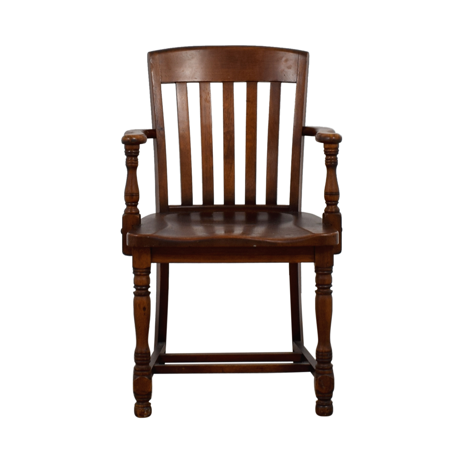 Murphy Chair Company Murphy Chair Company Brown Wooden Captain Chair Chairs