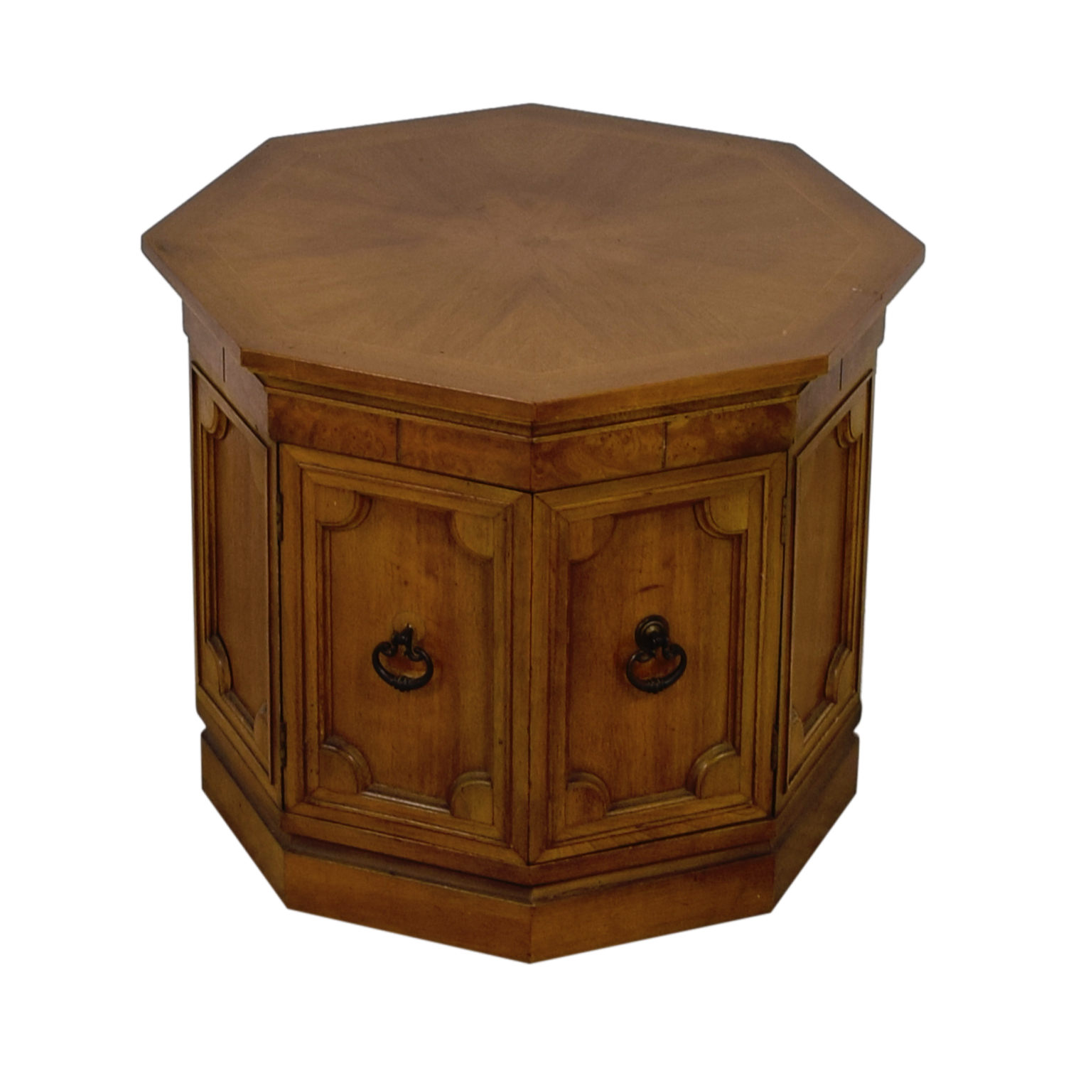 Octagonal Drum End Table discount