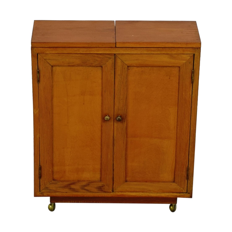 buy Wooden Cabinet Bar on Wheels