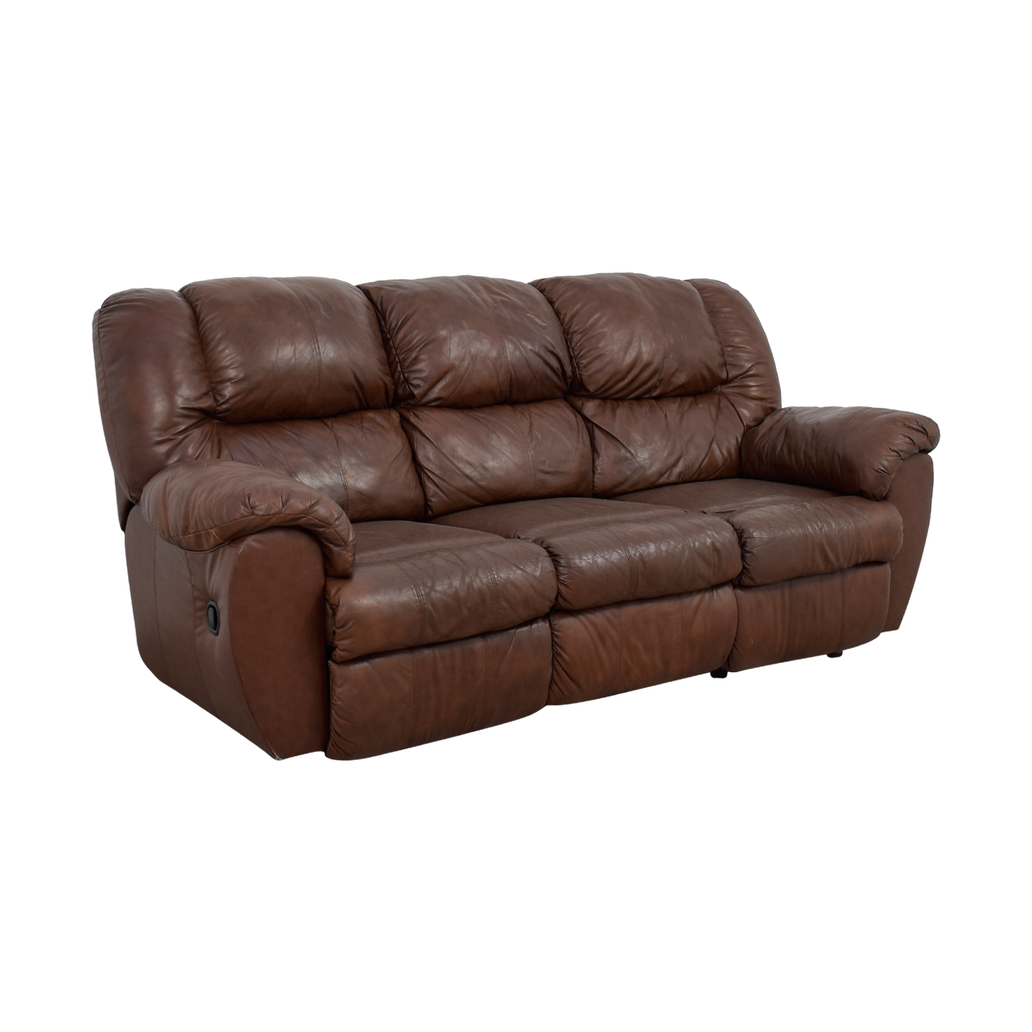 Ashley Furniture Dual Reclining Brown Leather Couch Coupon