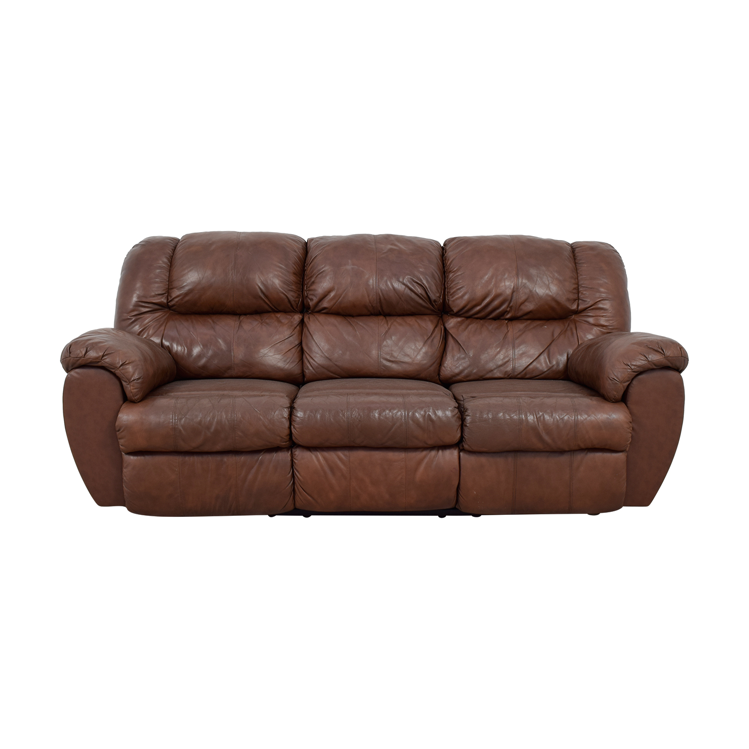 80% OFF - Ashley Furniture Ashley Furniture Dual Reclining Brown ...