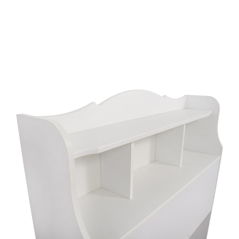 White Twin Bookcase Headboard on sale