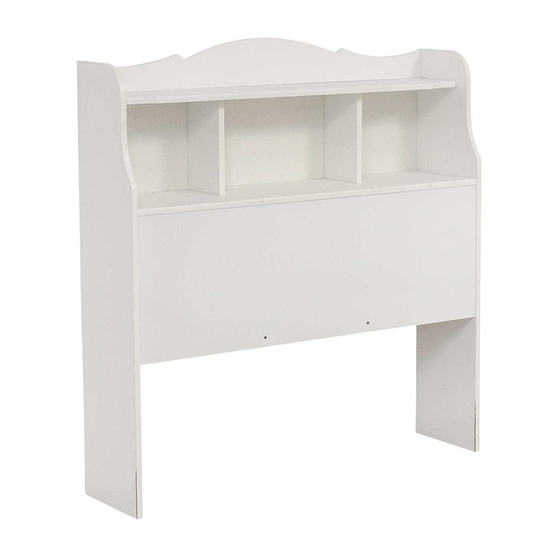 White Twin Bookcase Headboard / Headboards