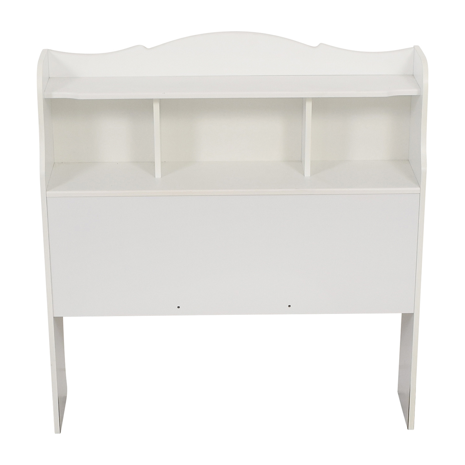 White Twin Bookcase Headboard discount