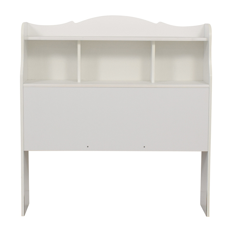 White Twin Bookcase Headboard / Beds