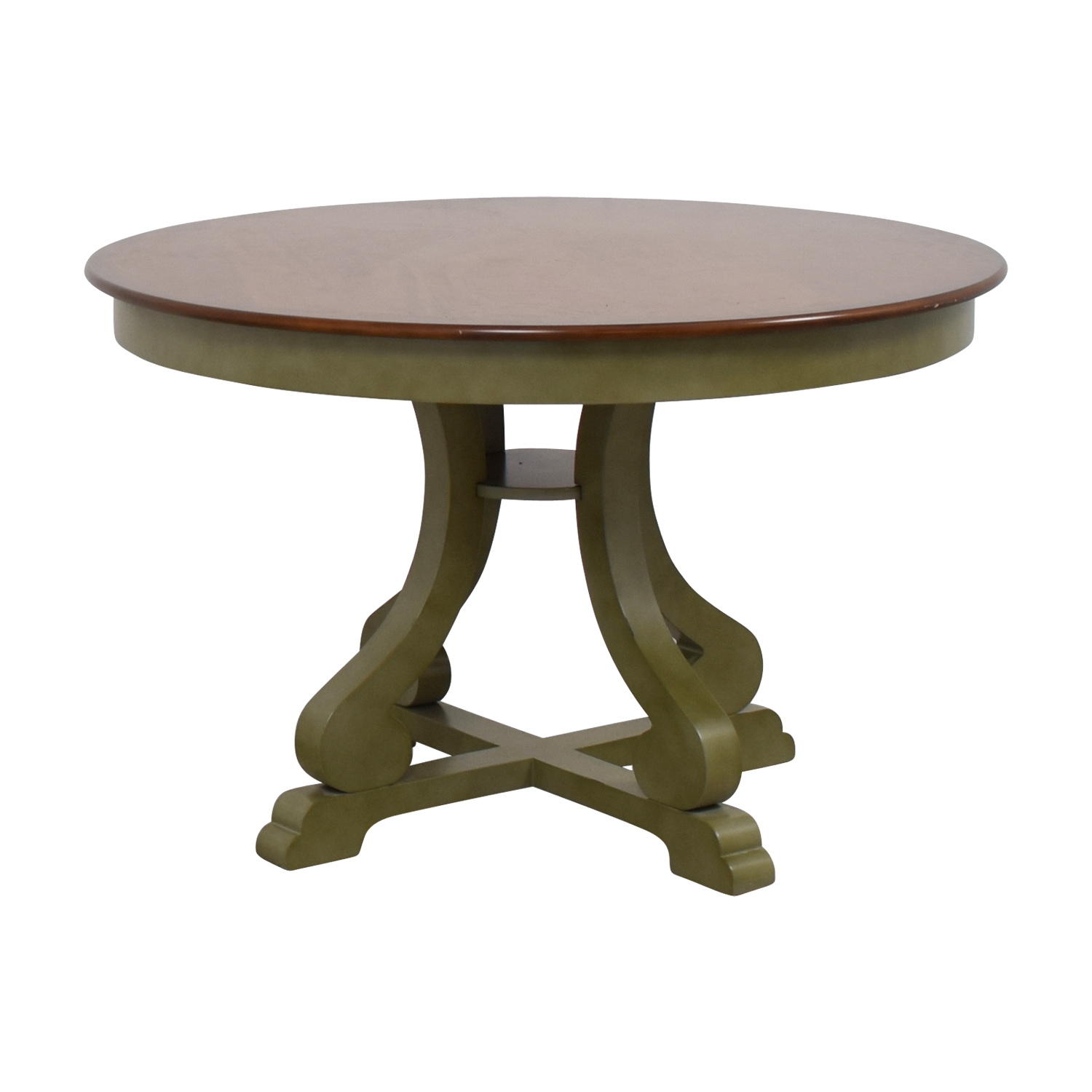 Green Round Table.90 Off Pier 1 Pier 1 Imports Green And Wood Round Dining Table Tables