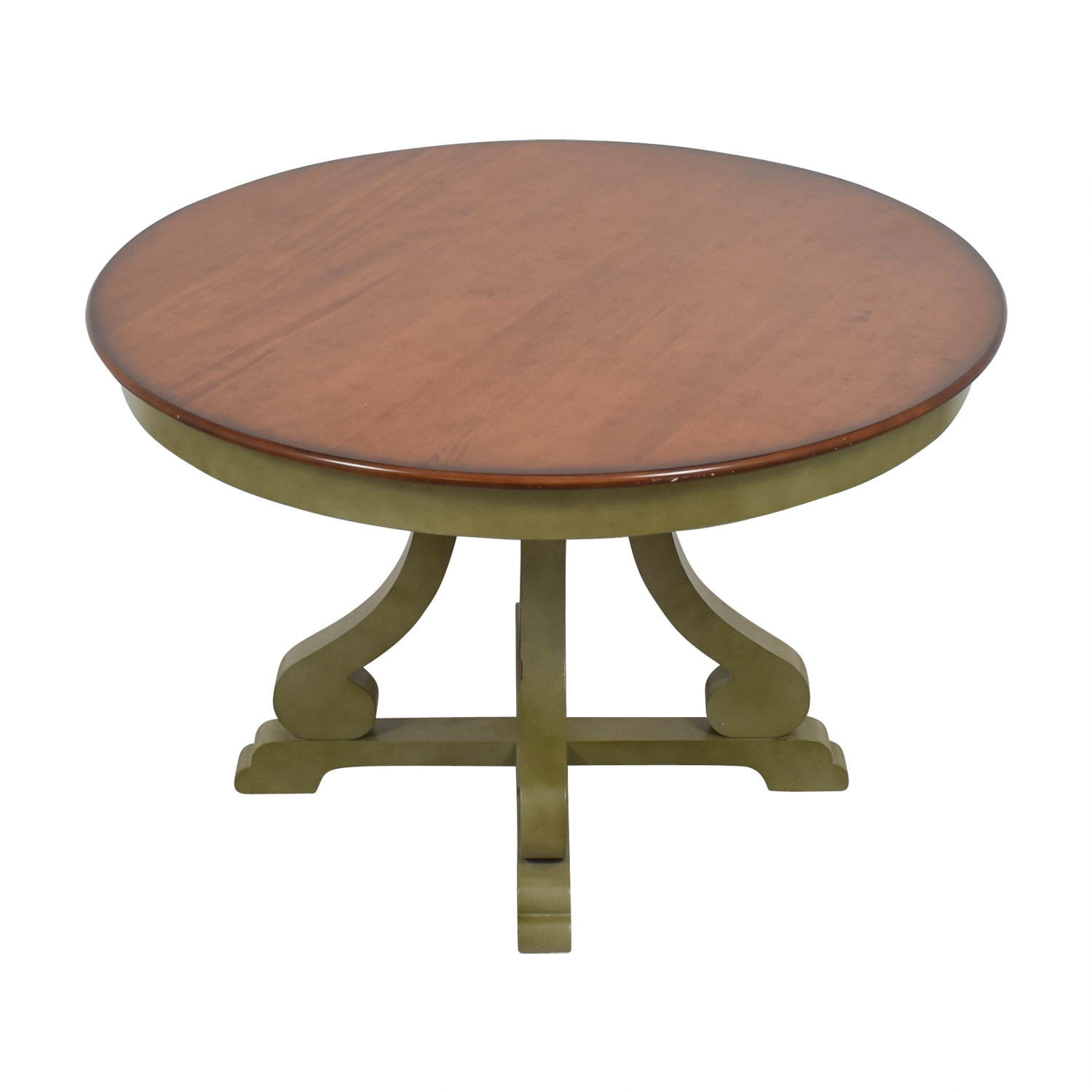 9 OFF   Pier 9 Pier 9 Imports Green and Wood Round Dining Table / Tables