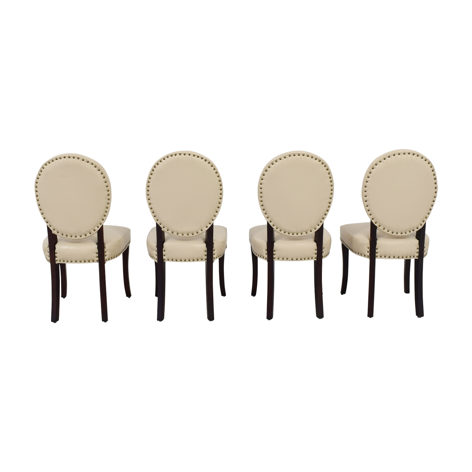 Pier 1 Imports Pier 1 Imports Cadence Ivory Nailhead Dining Chairs