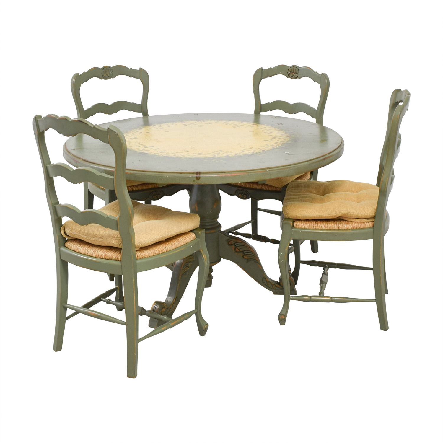 Country Kitchen Table: Hand Painted Country Style Kitchen Table And