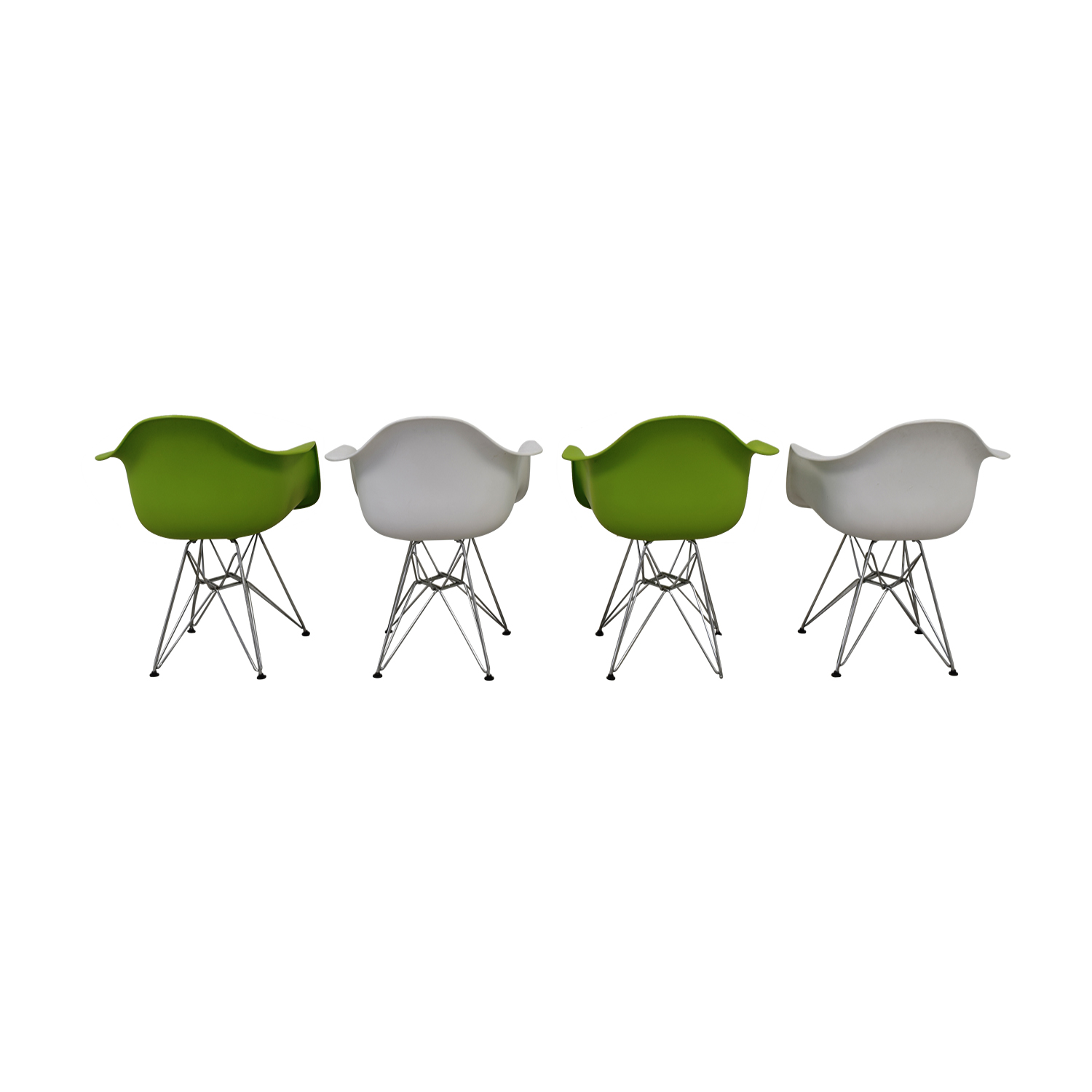buy Replica Eames Eiffel Style  Green and White Chairs  Chairs