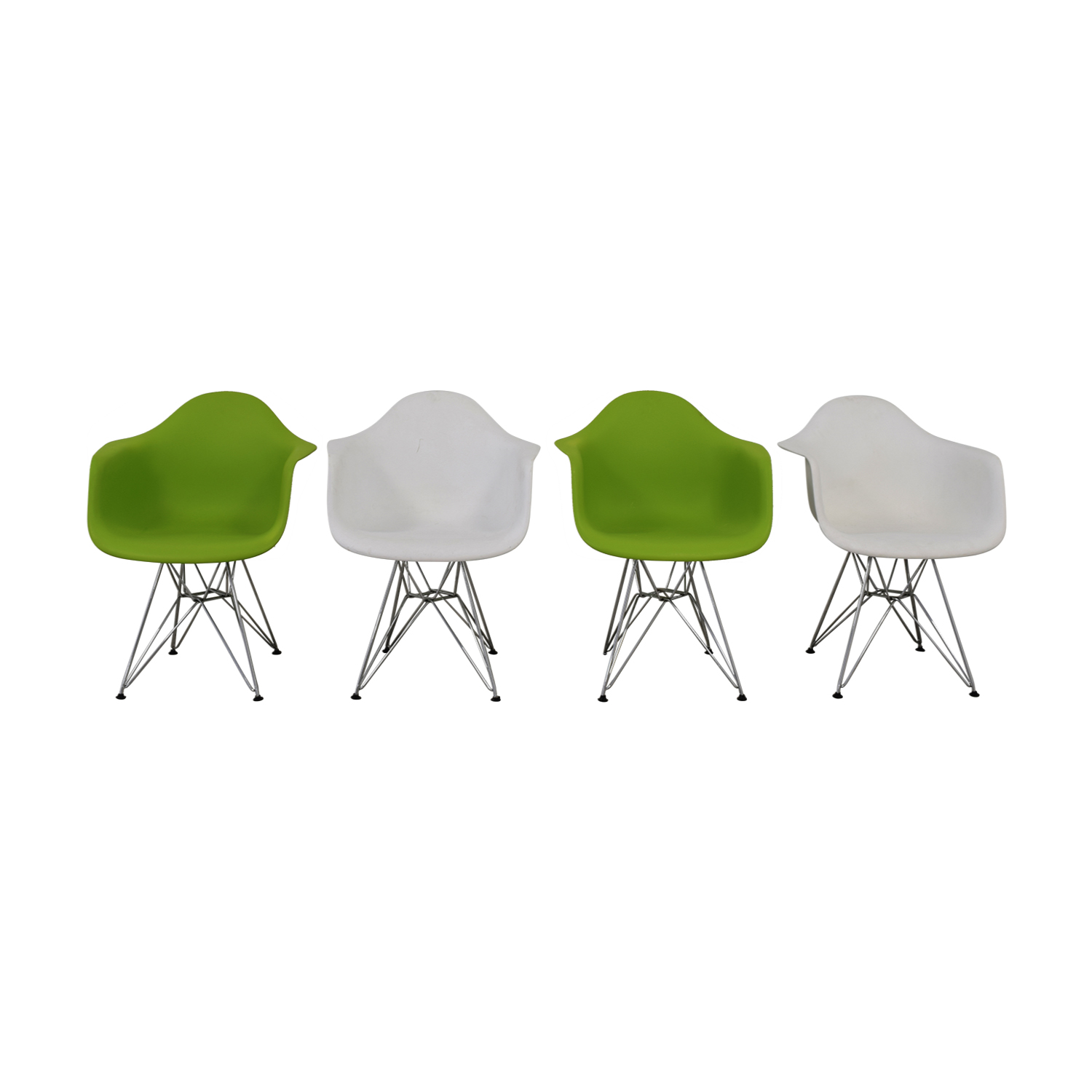 Replica Eames Eiffel Style  Green and White Chairs nyc