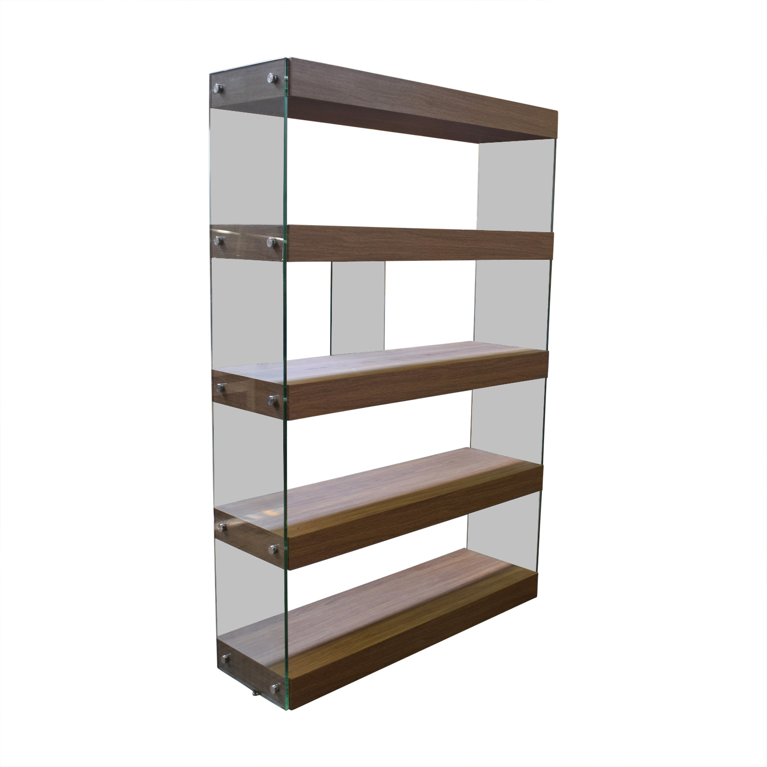 buy Made.com Made.com Glass and Walnut Bookcases online