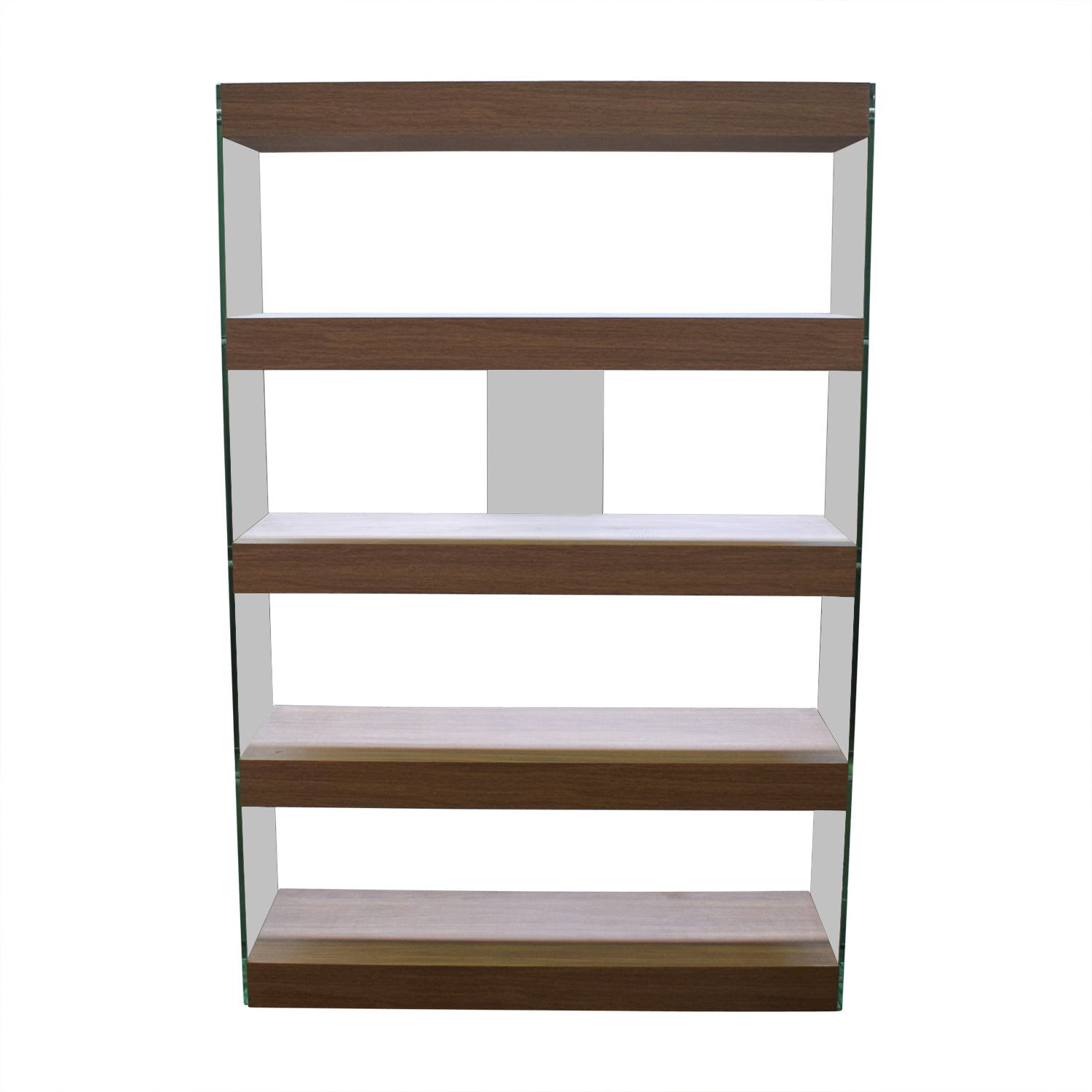 buy Made.com Glass and Walnut Bookcases Made.com Bookcases & Shelving