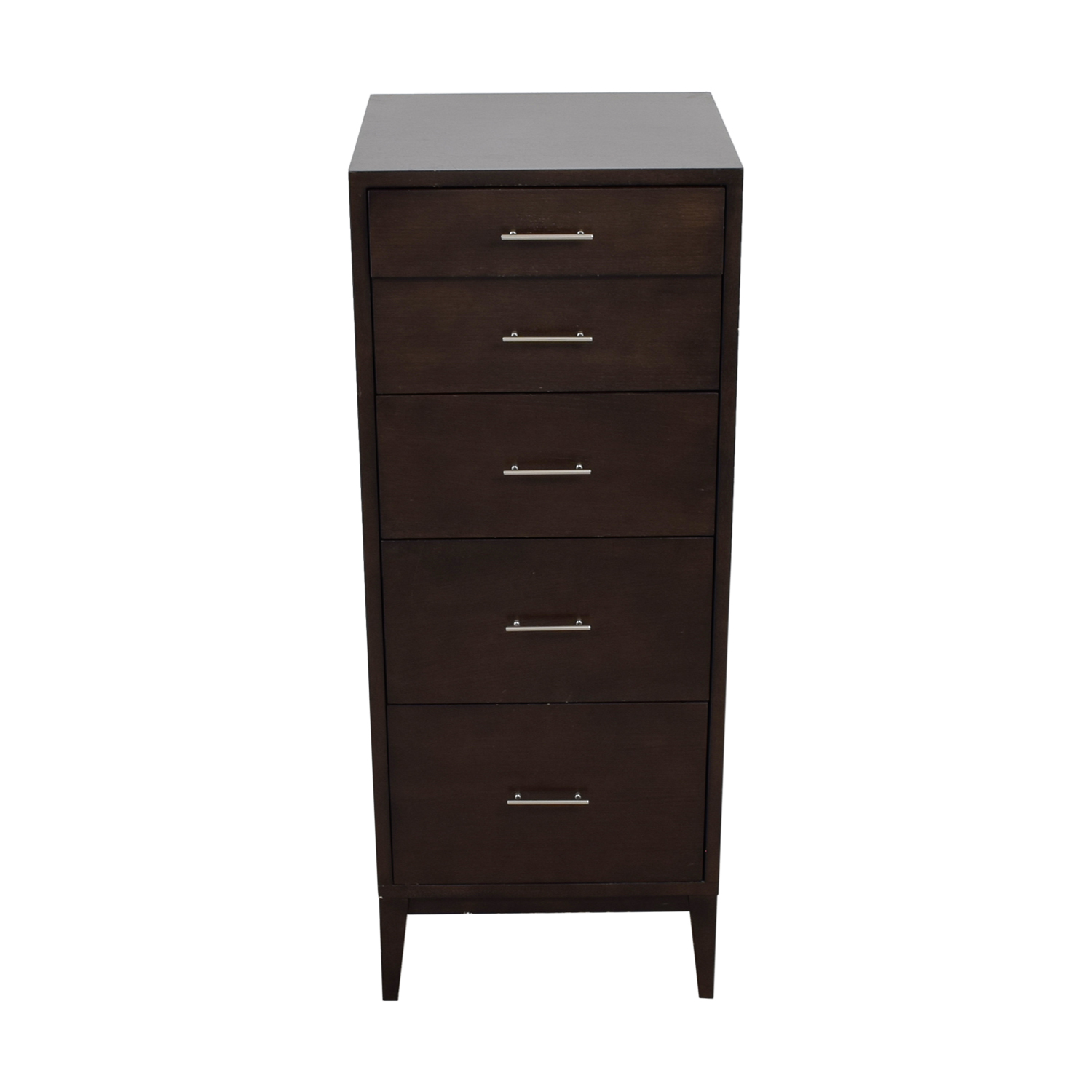 West Elm West Elm Tall Five Drawer Dresser Black