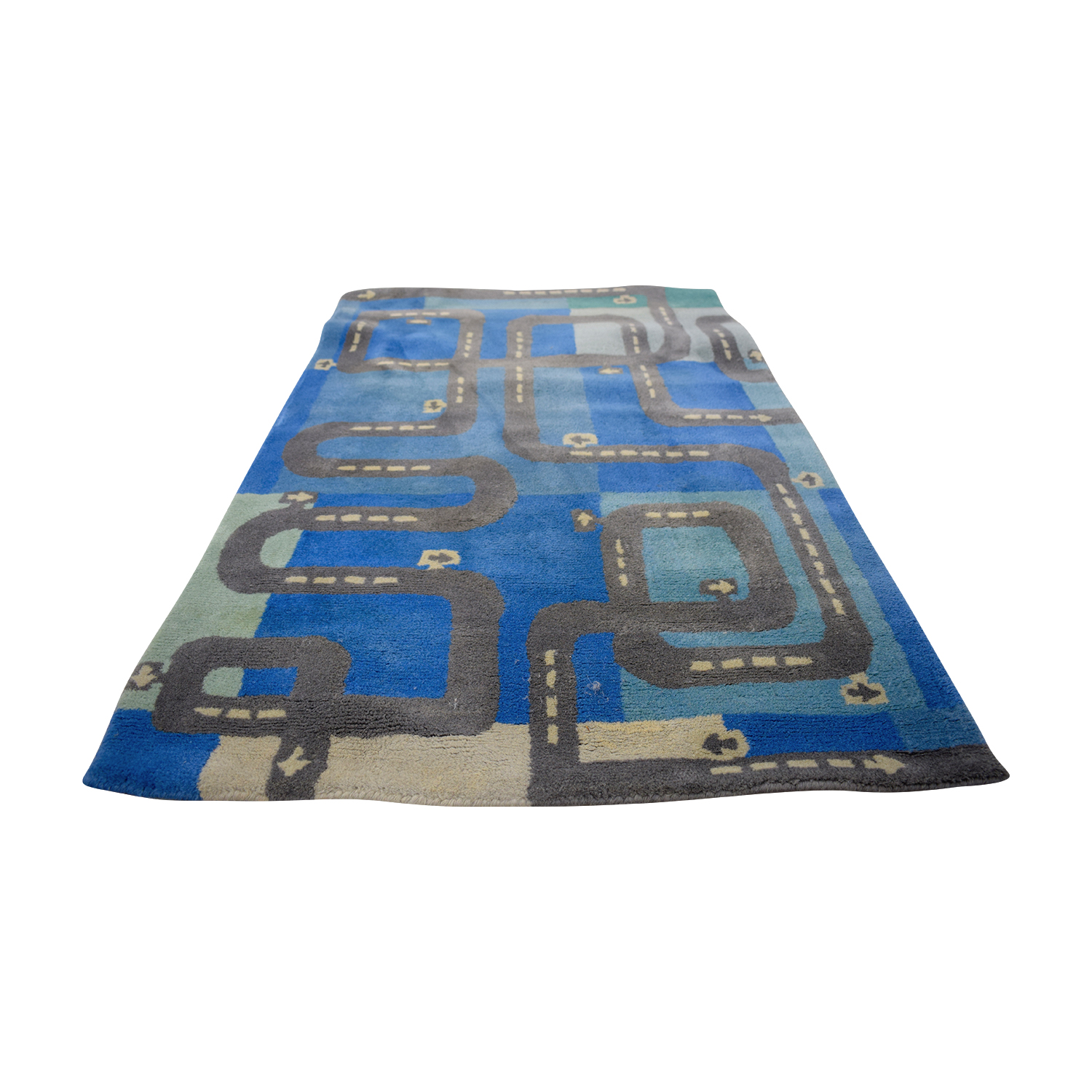 The Land of Nod The Land of Nod Blue Road Play Rug price