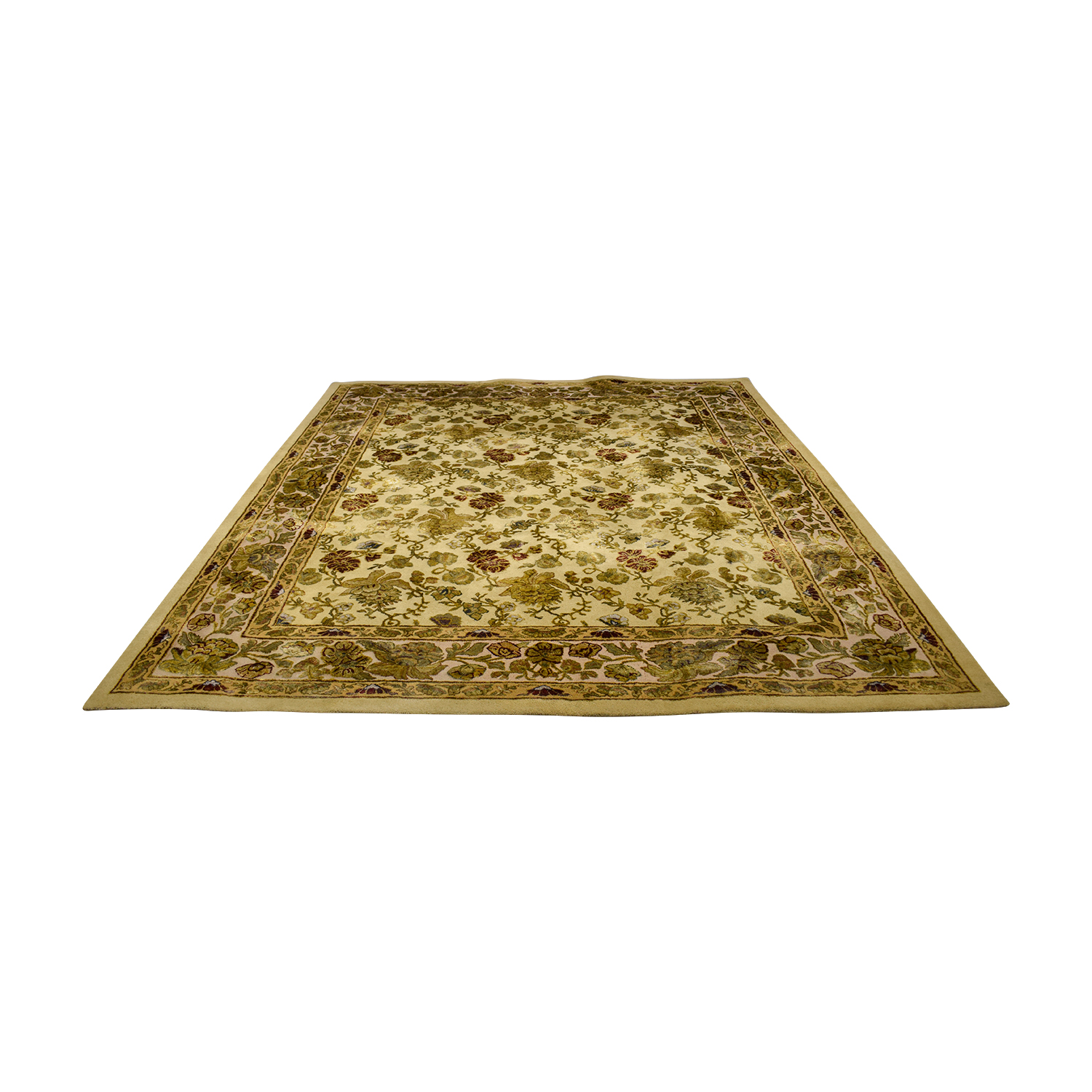 shop Ethan Allen Multi-Colored Leaf Oriental Rug Ethan Allen Rugs