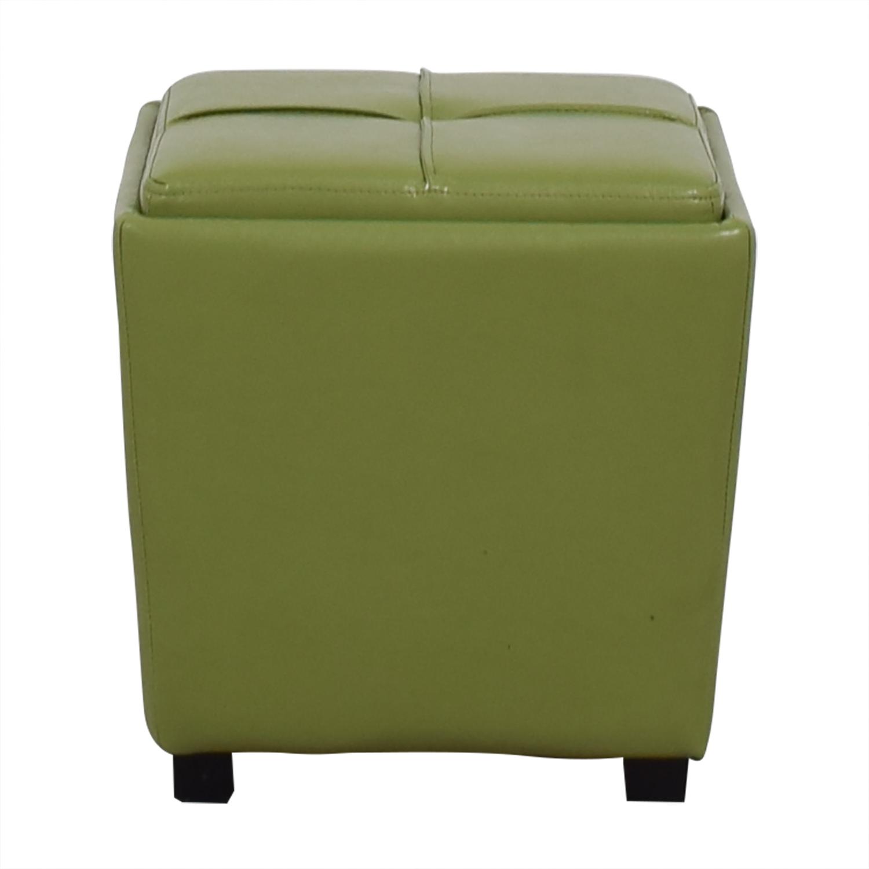 Home Goods Discount: HomeGoods HomeGoods Lime Green Storage Ottoman