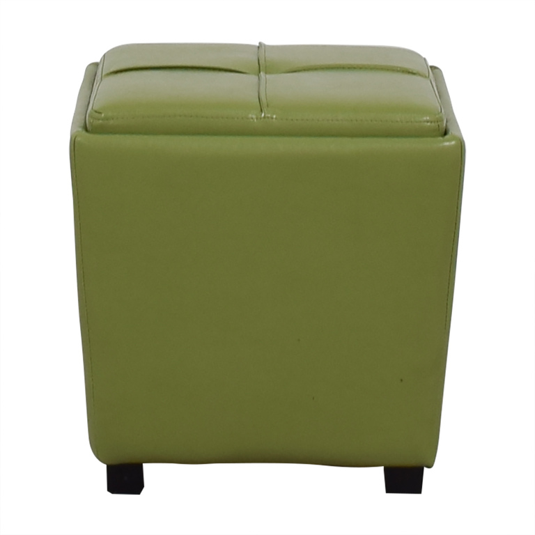 HomeGoods HomeGoods Lime Green Storage Ottoman dimensions