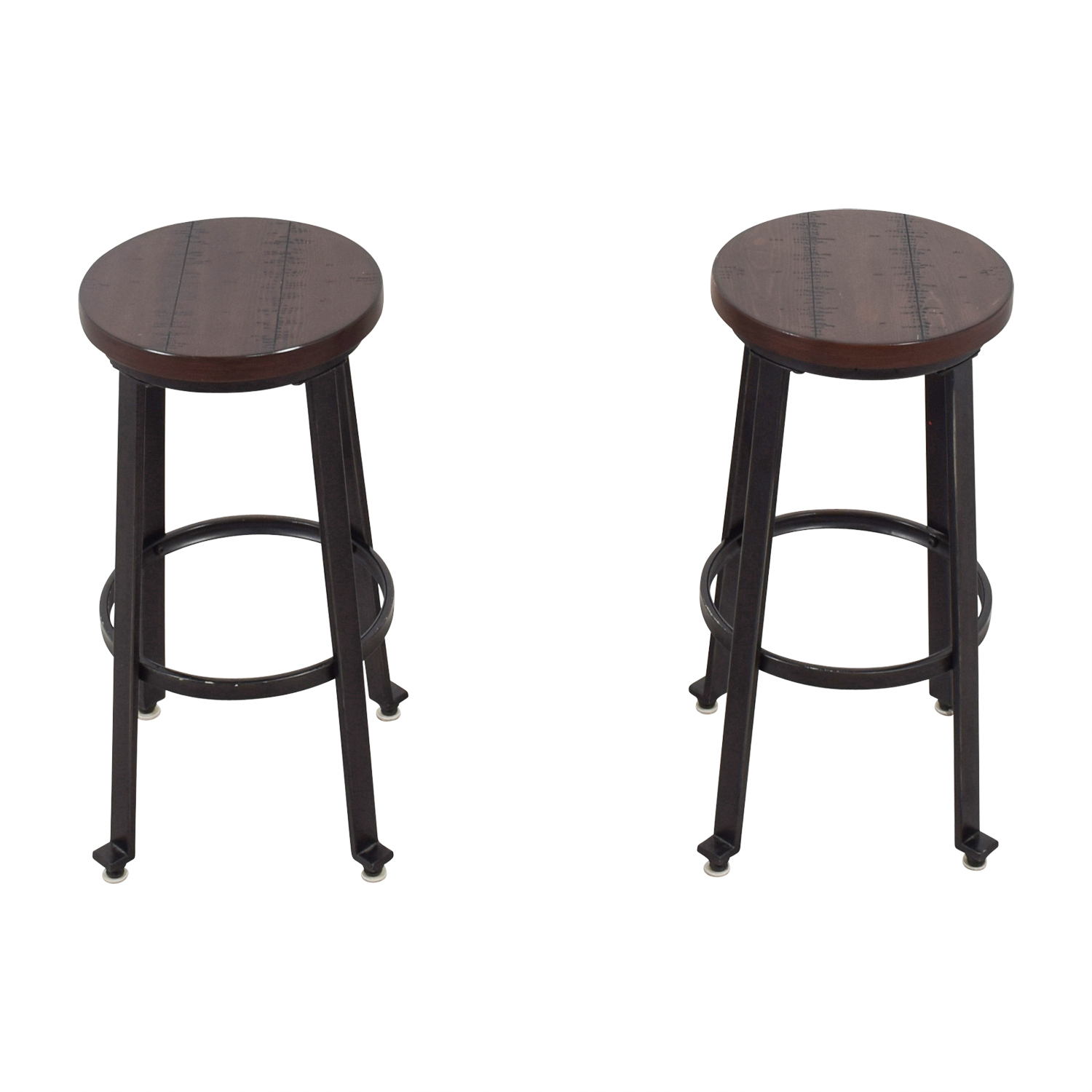 Wood and Metal Barstools used