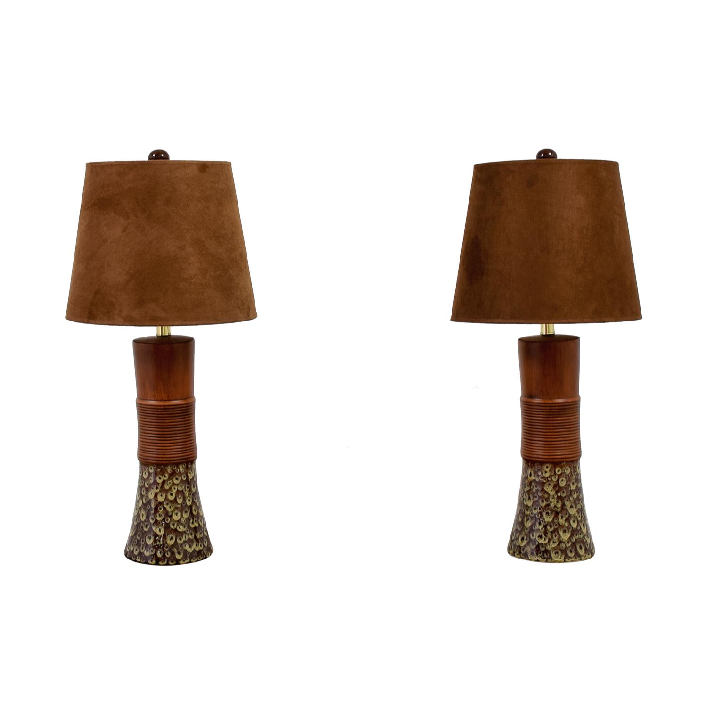 80 Off Ashley Furniture Ashley Furniture Ceramic Table Lamps Decor