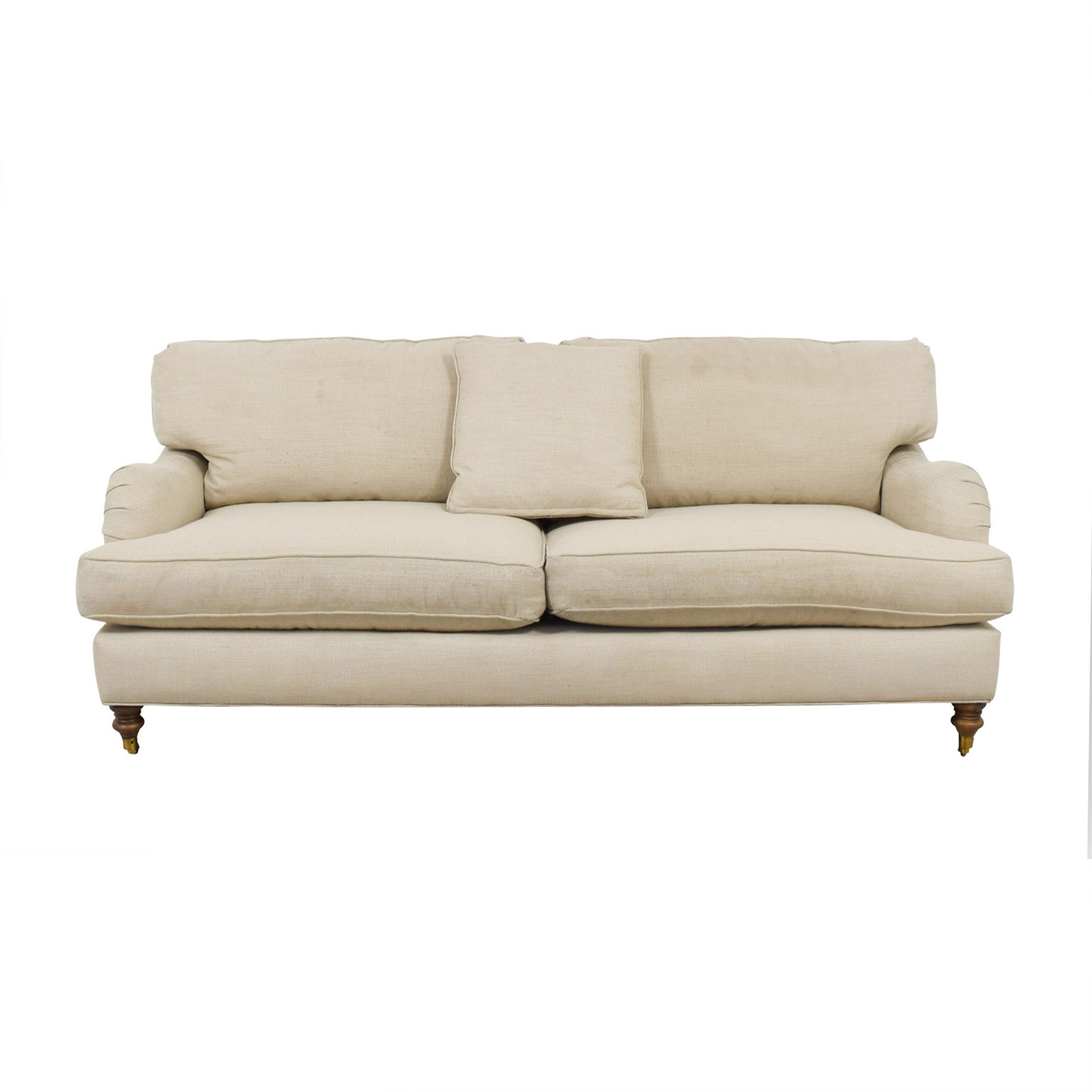 shop Robin Bruce Brooke Natural Roll-Arm Sofa Robin Bruce Sofas