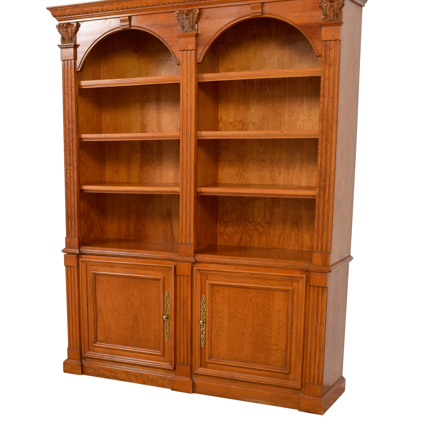 Hamilton Heritage Hamilton Heritage Double Bookcase with Storage
