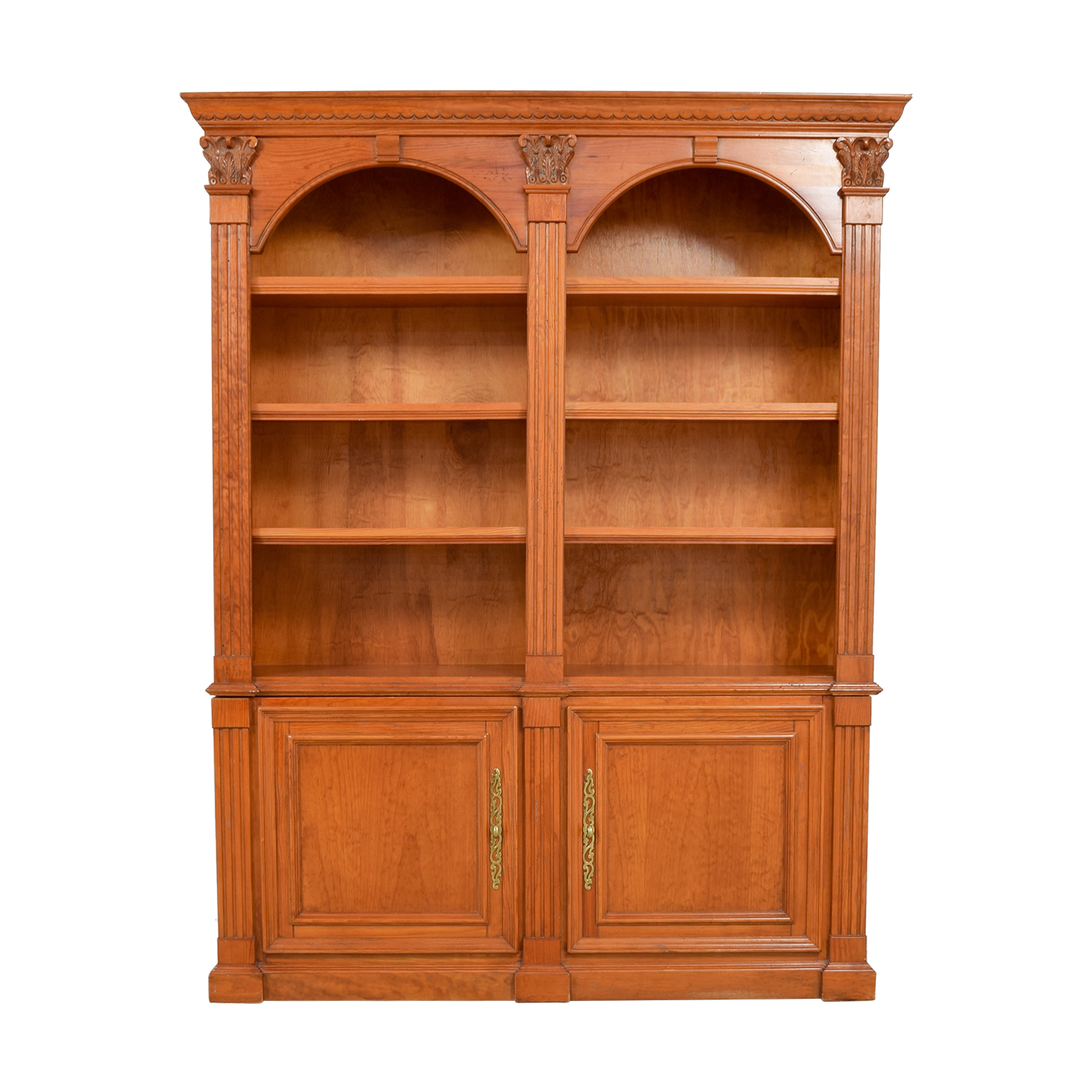 Hamilton Heritage Hamilton Heritage Double Bookcase with Storage for sale