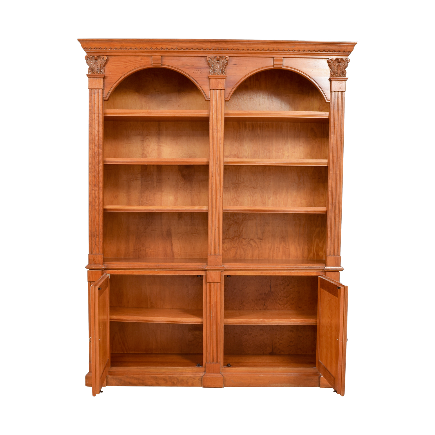 buy Hamilton Heritage Double Bookcase with Storage Hamilton Heritage Bookcases & Shelving