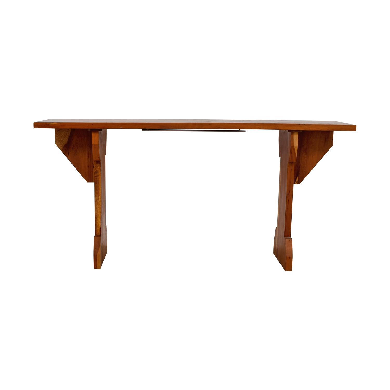 Custom Cherry Wood Narrow Dining Table second hand