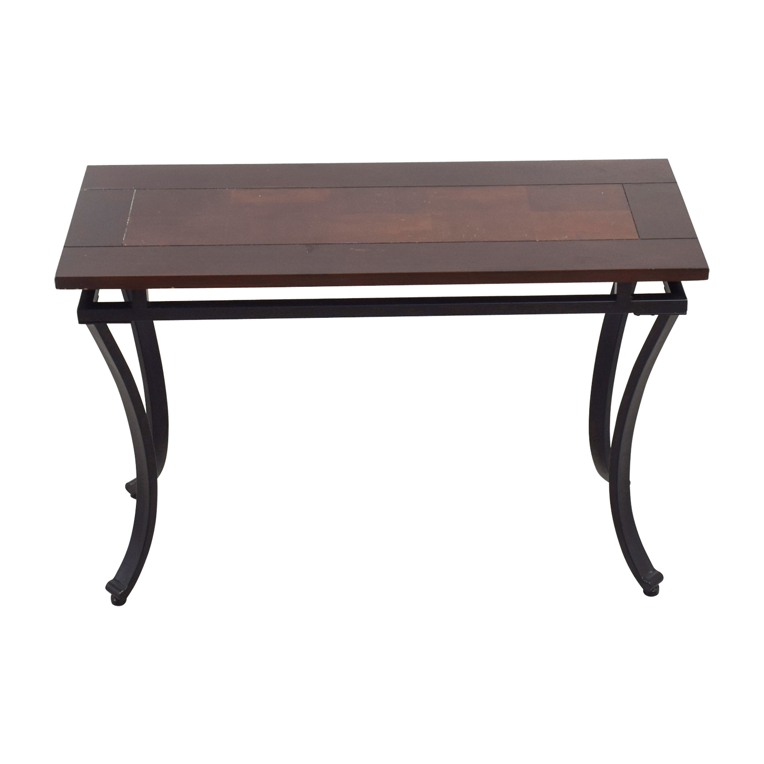 buy  Metal and Wood Foyer Table online