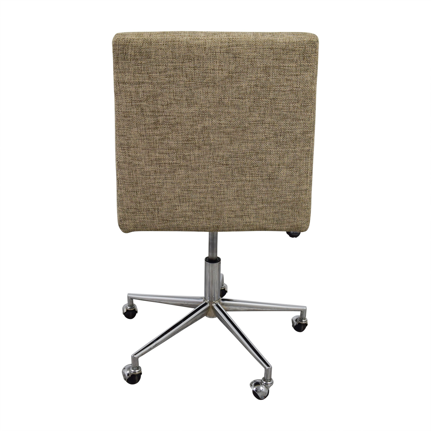 Beige Armless Swivel Office Chair / Home Office Chairs
