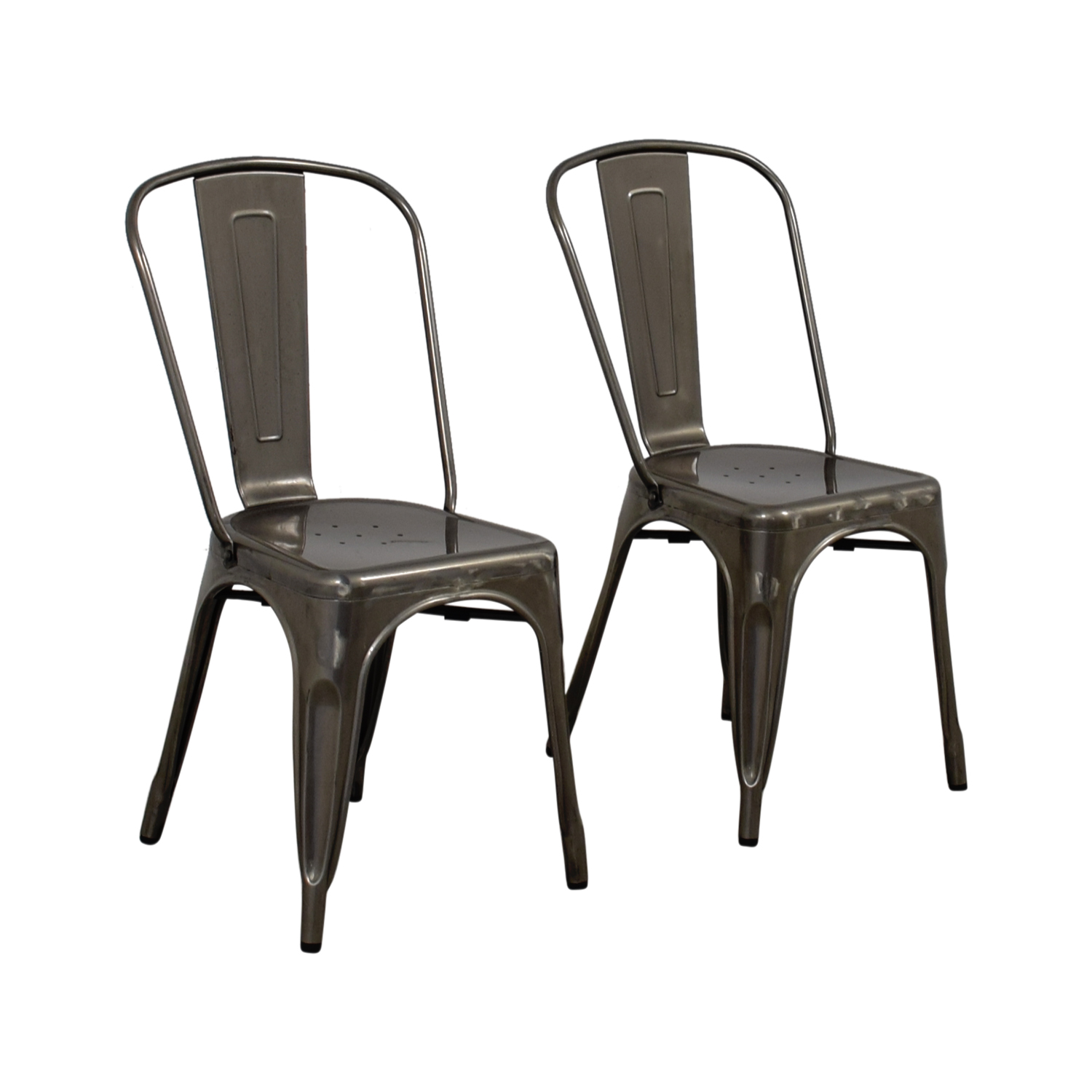 ... Brushed Metal Bistro Chairs Used ...