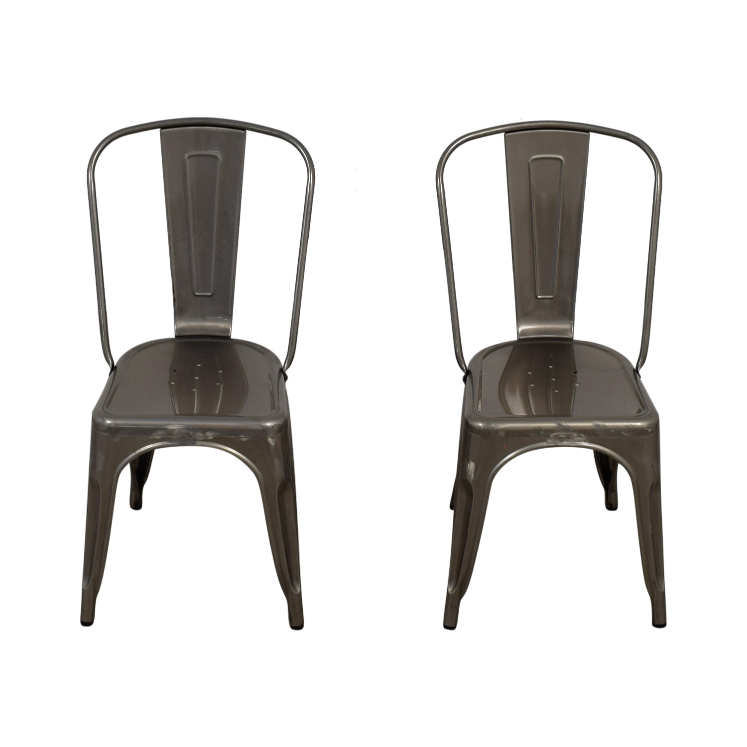 ... Shop Brushed Metal Bistro Chairs Dining Chairs ...