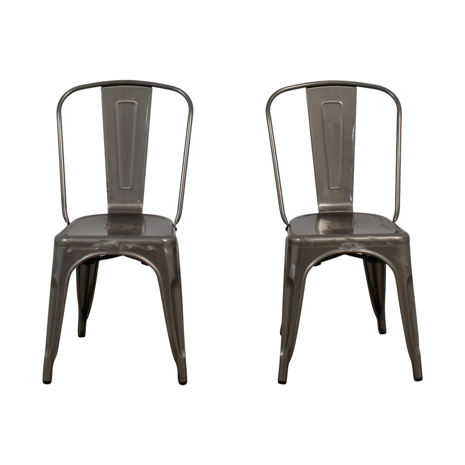 Brushed Metal Bistro Chairs Second Hand ...
