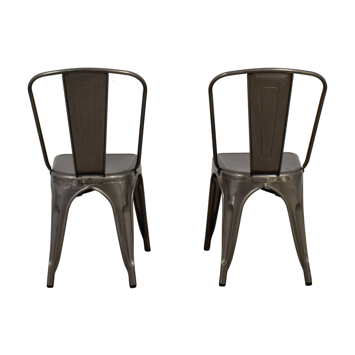 Brushed Metal Bistro Chairs / Dining Chairs