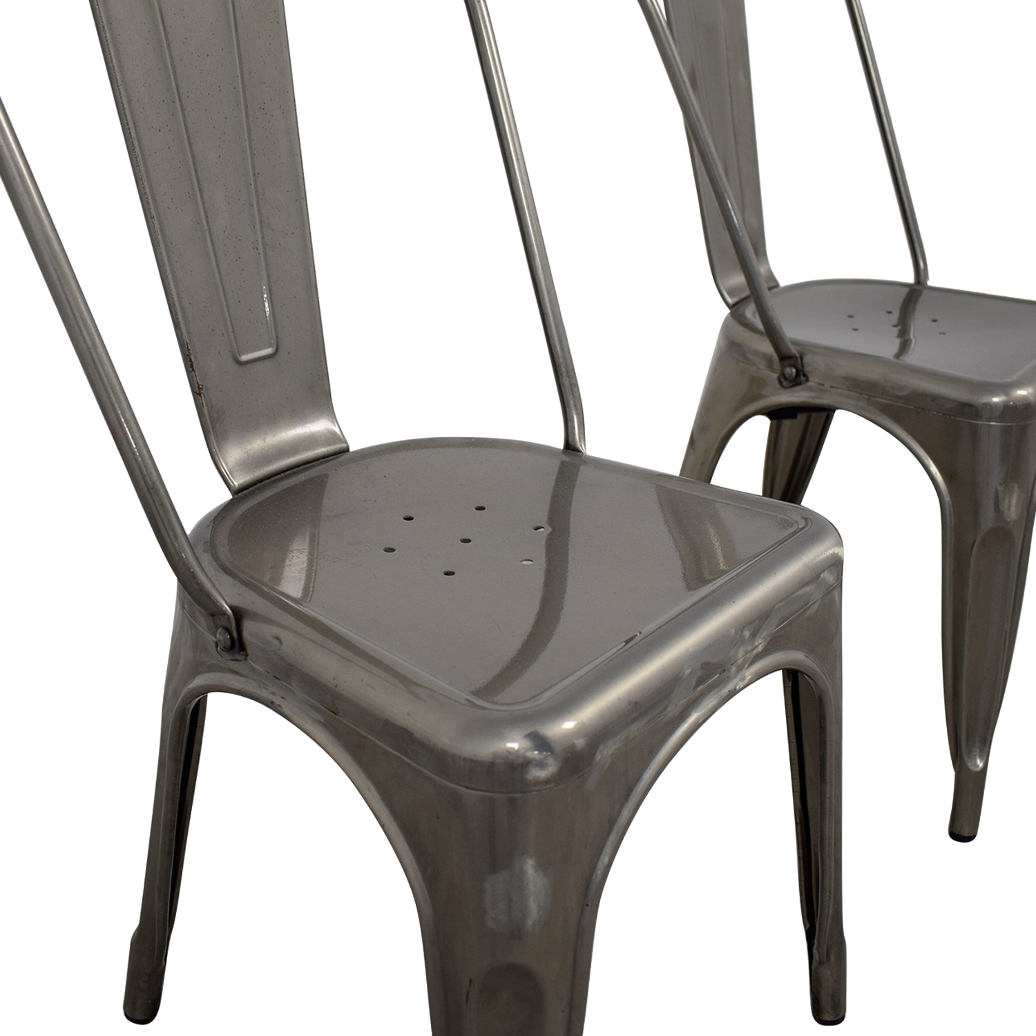 ... Brushed Metal Bistro Chairs Sale ...
